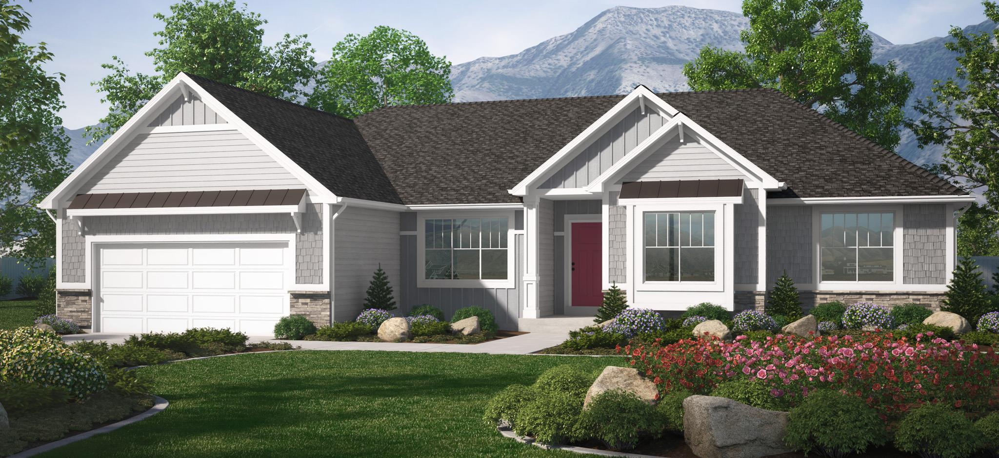 Exterior featured in the Cambridge (SOG) By Visionary Homes in Logan, UT