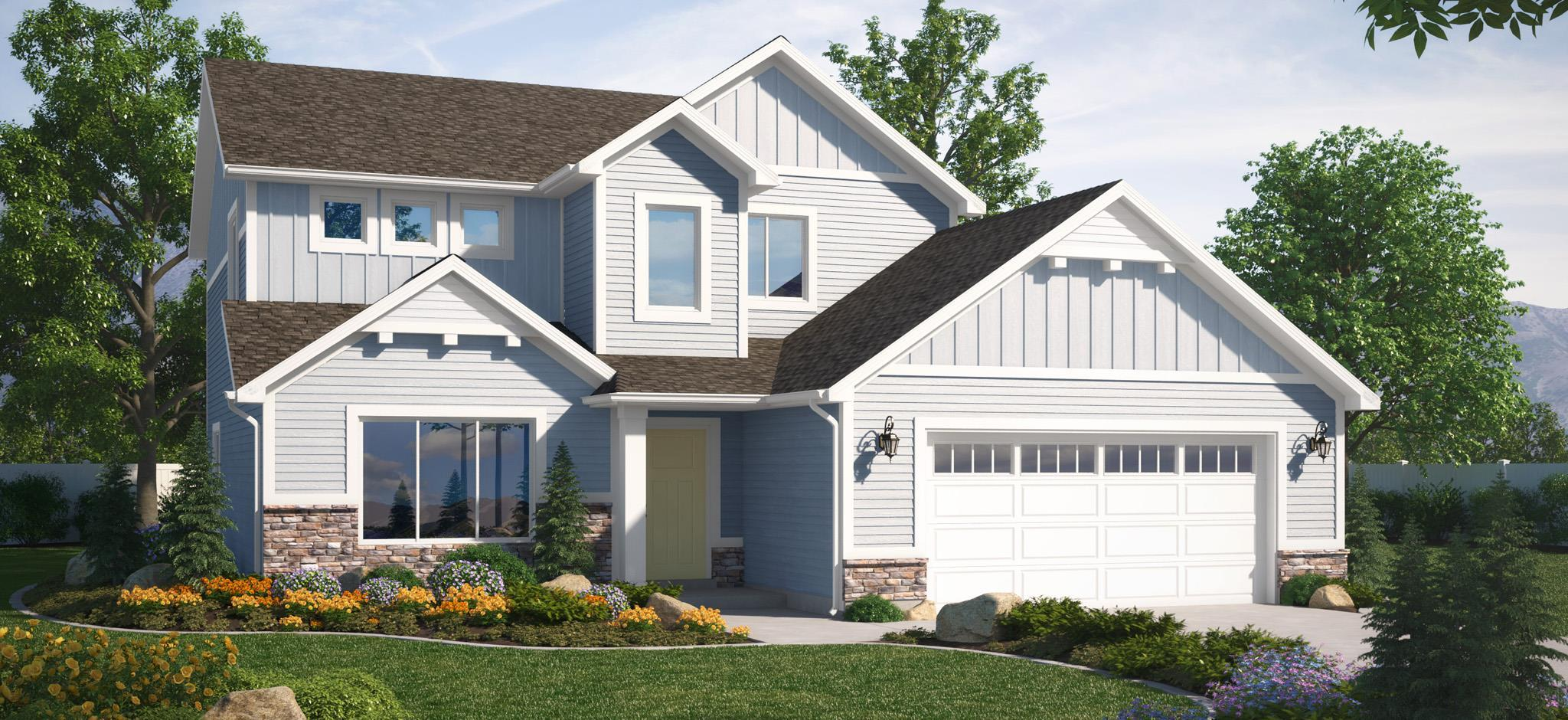Exterior featured in the Stewart (SOG) By Visionary Homes in Logan, UT