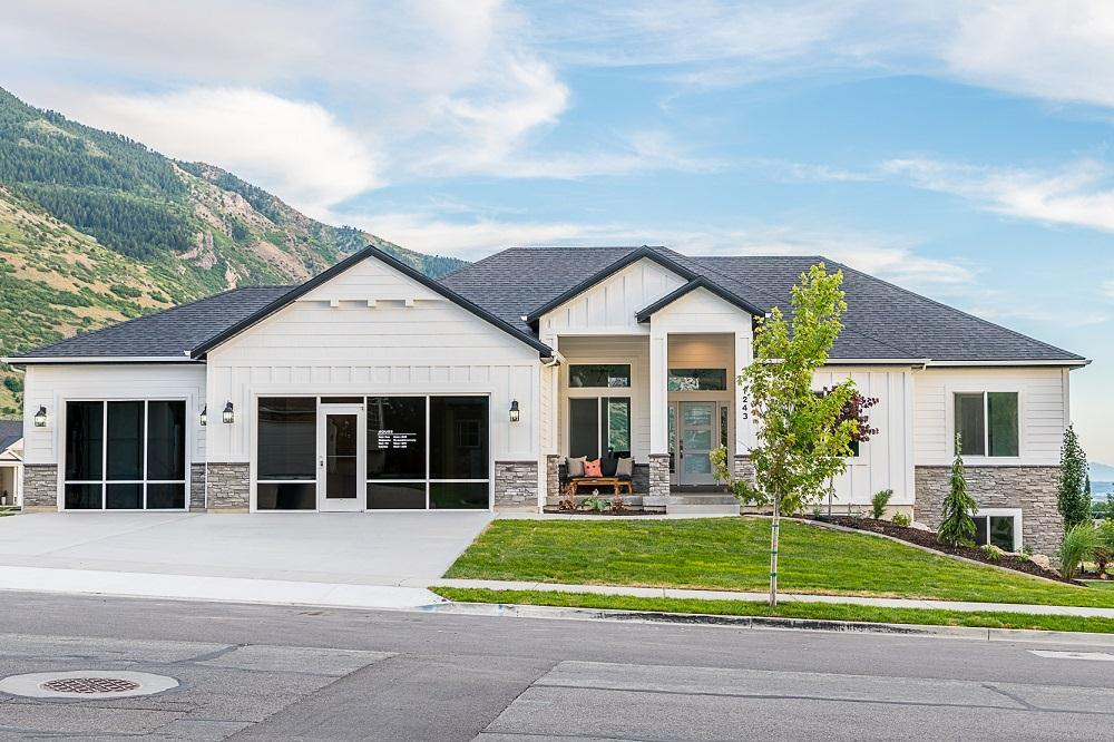 Exterior featured in the Canterbury (SOG) By Visionary Homes in Logan, UT