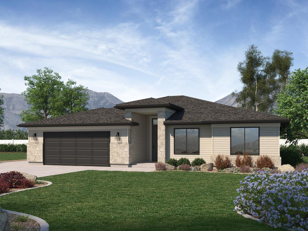 Exterior featured in the Summerlyn (SOG)  By Visionary Homes in Logan, UT