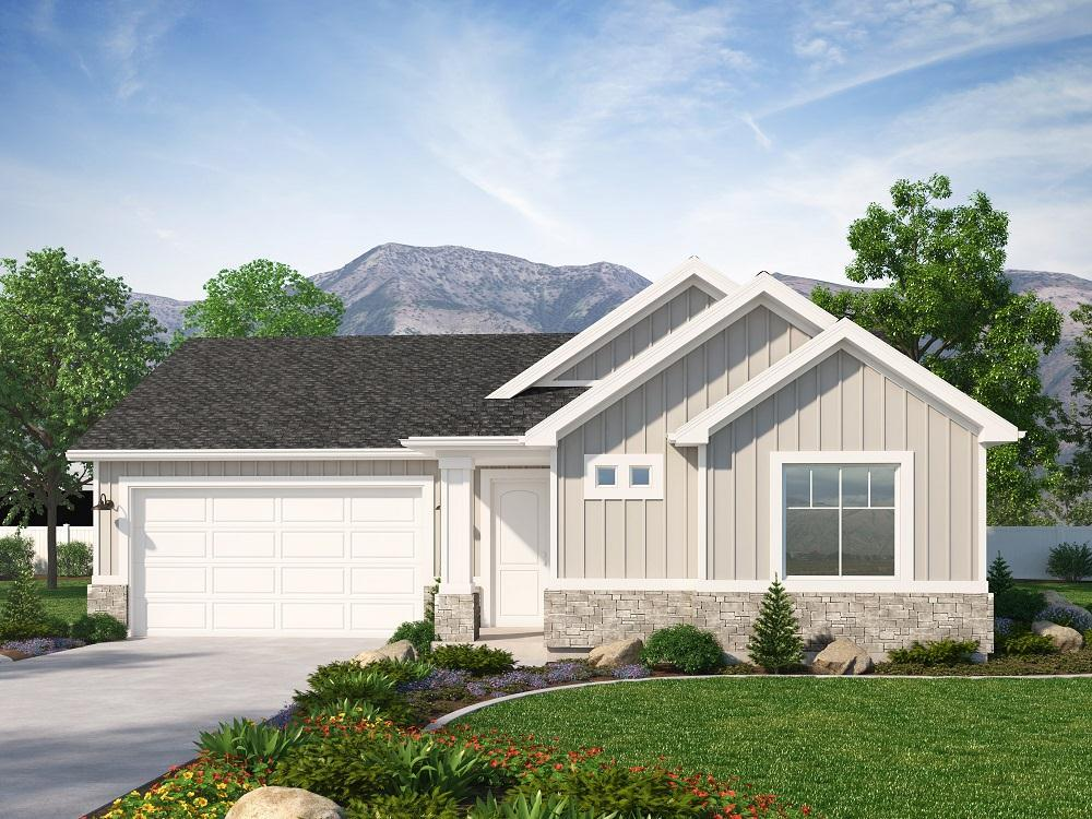 Exterior featured in the Marbury (SOG) By Visionary Homes in Logan, UT