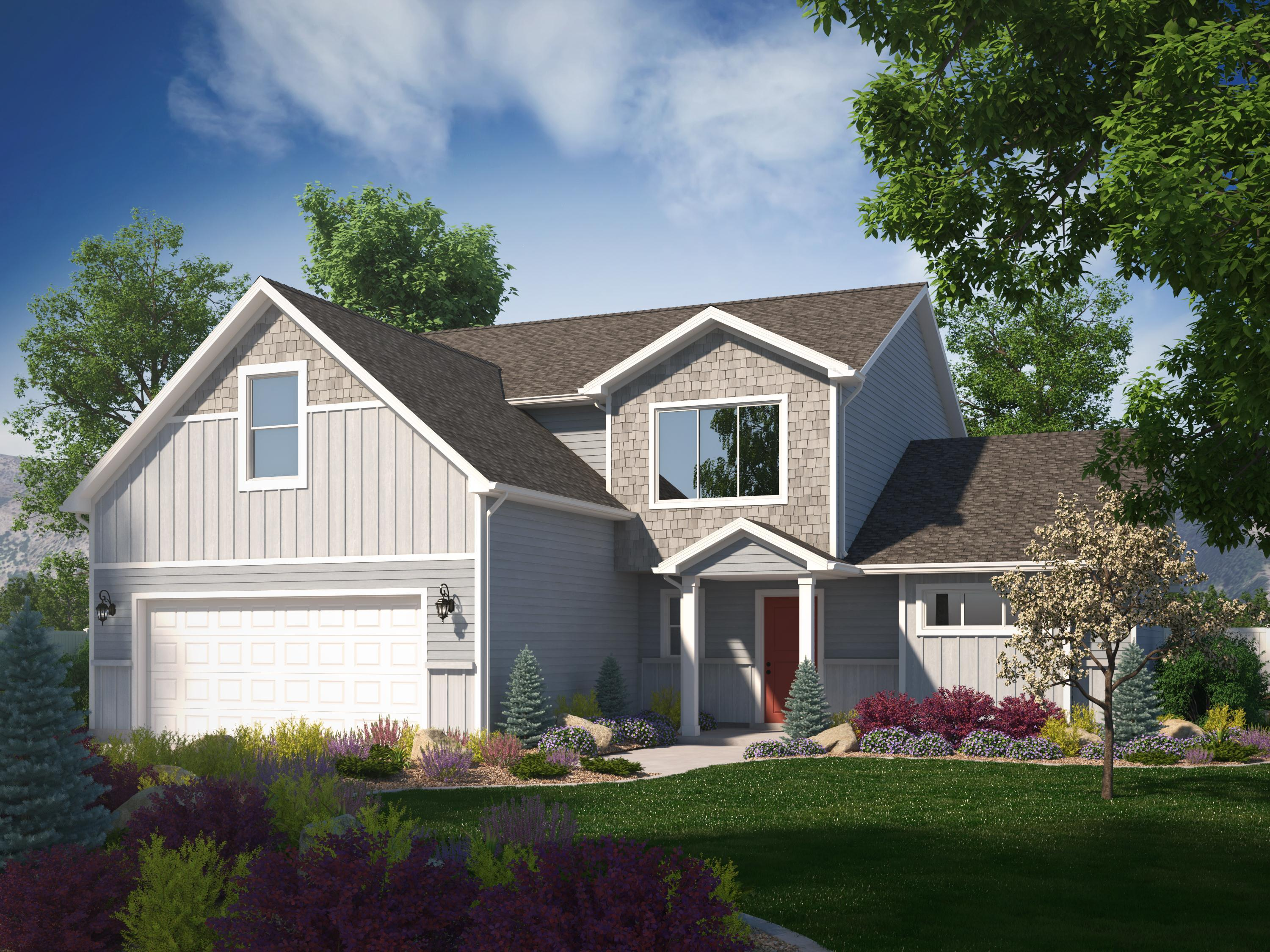 Exterior featured in the Sumac (SOG)  By Visionary Homes in Logan, UT