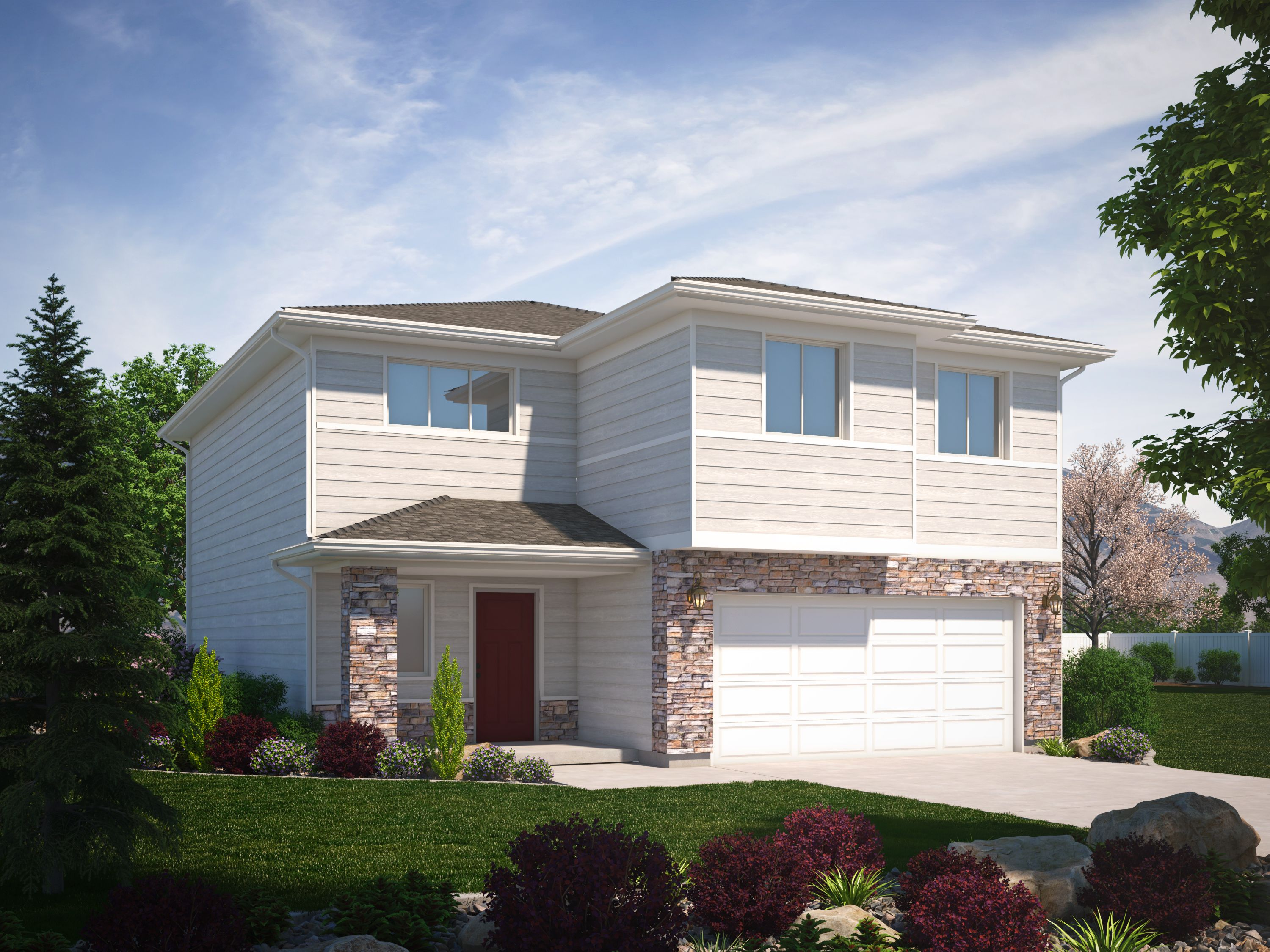 Exterior featured in the Madison (Basement) By Visionary Homes in Logan, UT