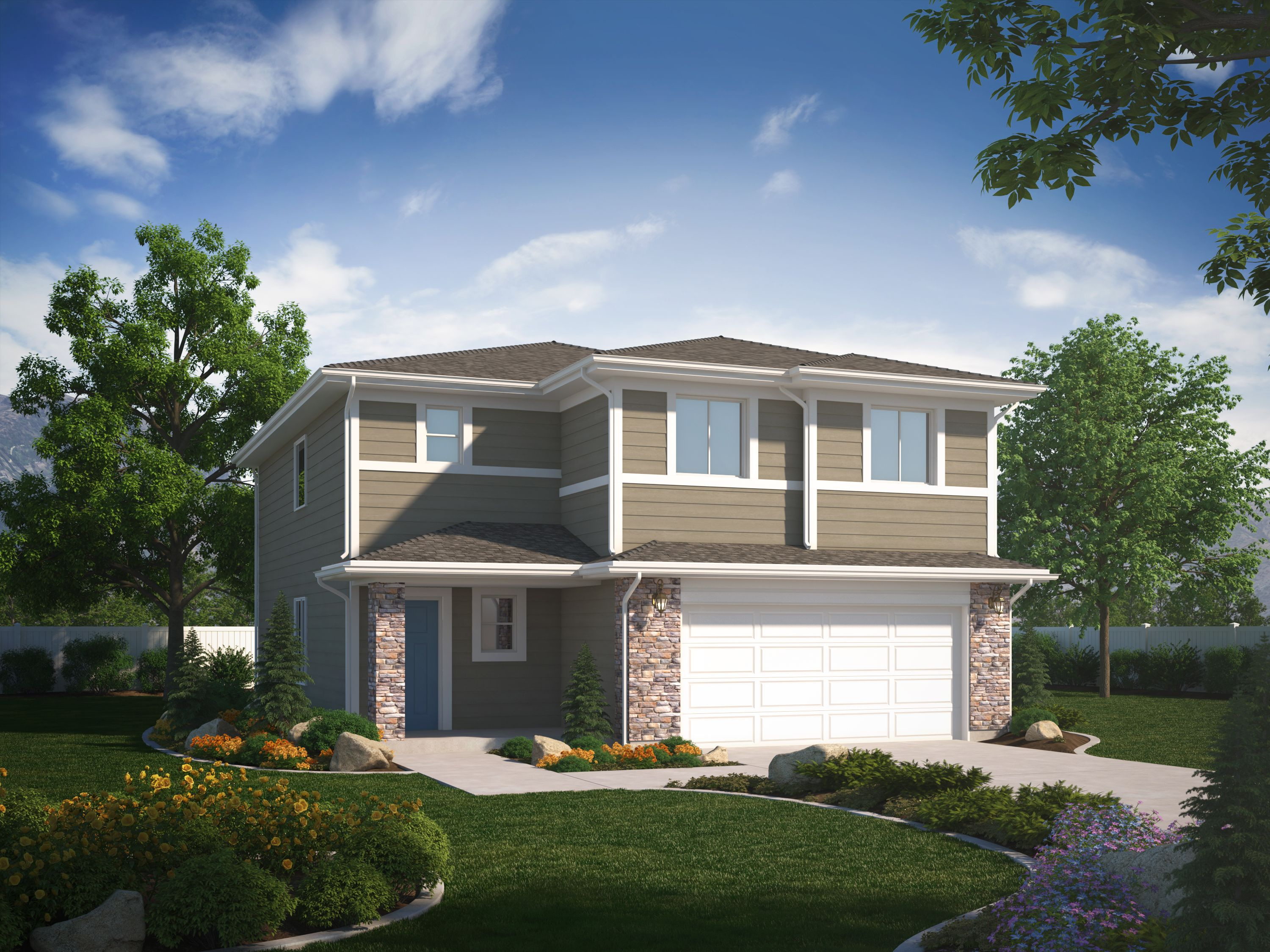 Exterior featured in the Springhill (Basement) By Visionary Homes in Logan, UT