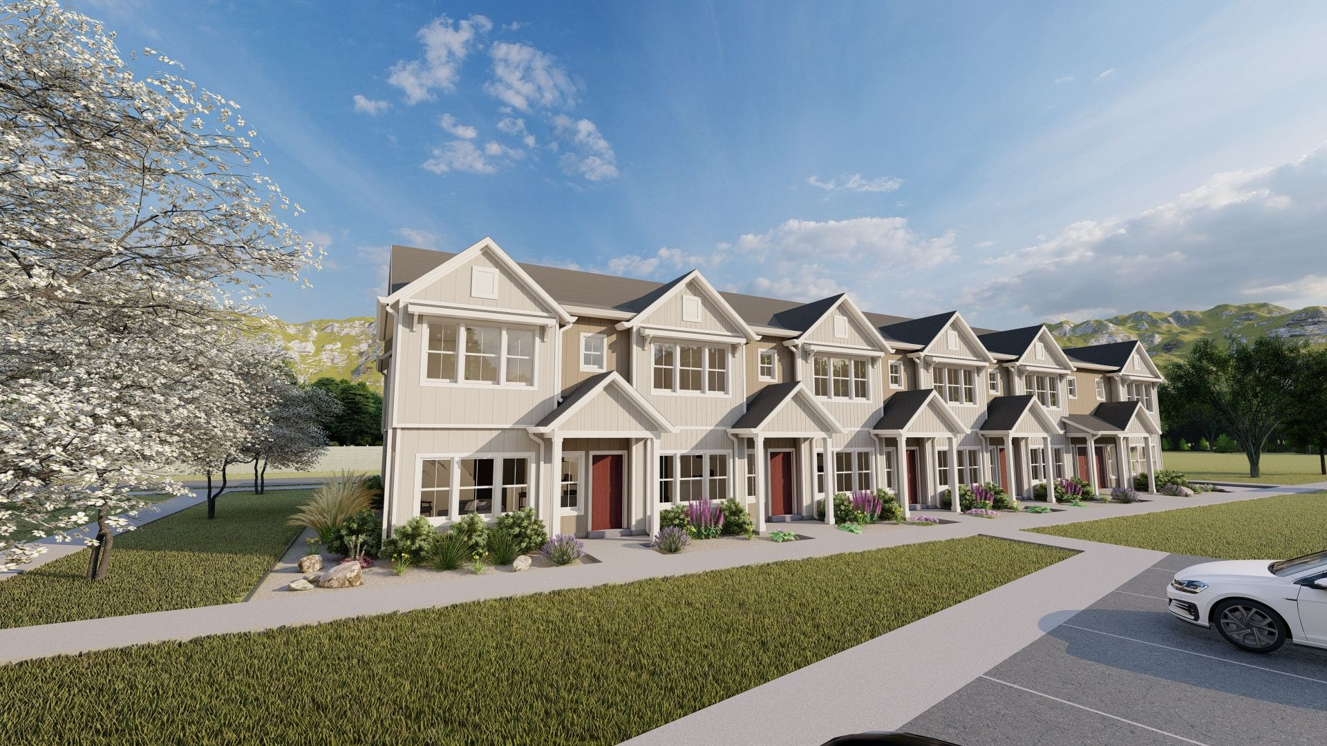 Exterior featured in the Archibald Estates Townhomes By Visionary Homes in Logan, UT