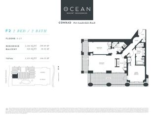 F2 - The Ocean Resort Residences Conrad: Fort Lauderdale, Florida - The Ocean Resort Residences Co