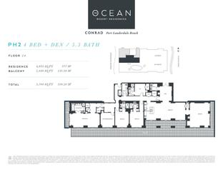 PH2 - The Ocean Resort Residences Conrad: Fort Lauderdale, Florida - The Ocean Resort Residences Co