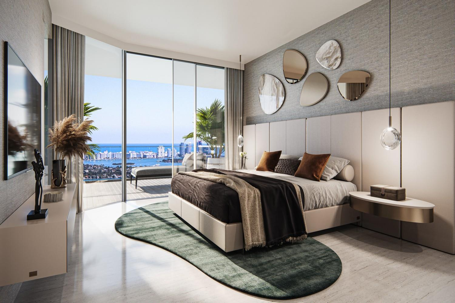 Bedroom featured in the Unit 07 By Aria Reserve Miami in Miami-Dade County, FL
