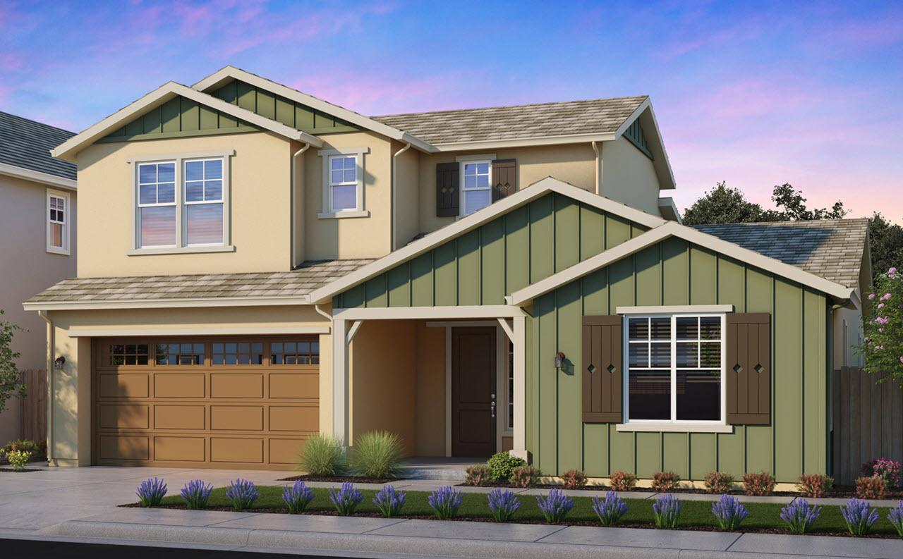 Exterior featured in the Plan 2 By Watt Communities in Sacramento, CA