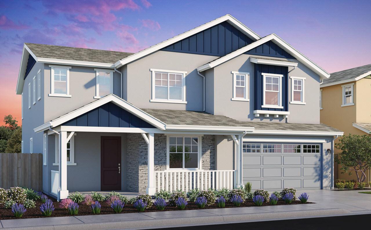 Exterior featured in the Plan 3 By Watt Communities in Sacramento, CA