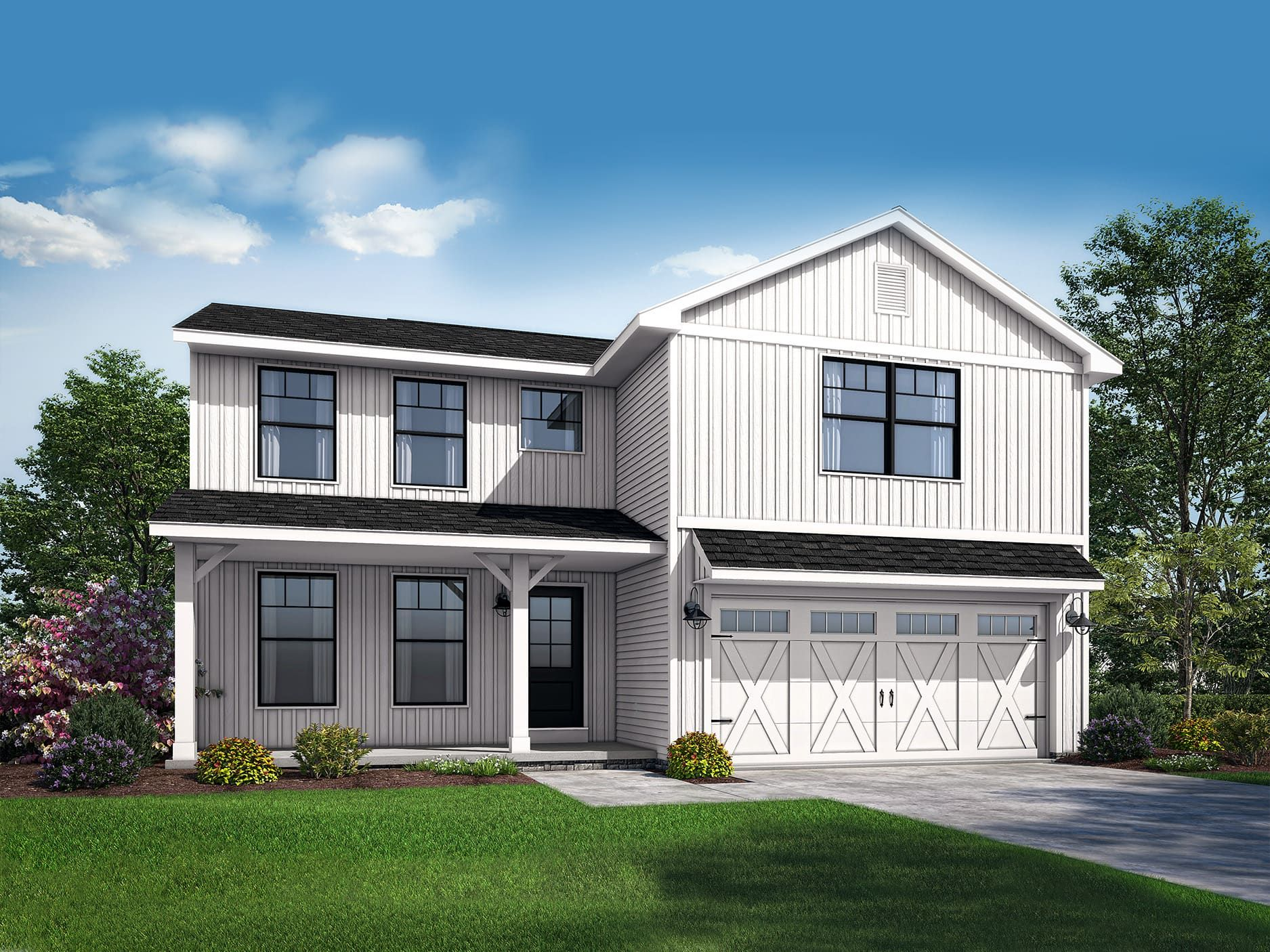 Exterior featured in the Hampton II By Wayne Homes in Wheeling, OH