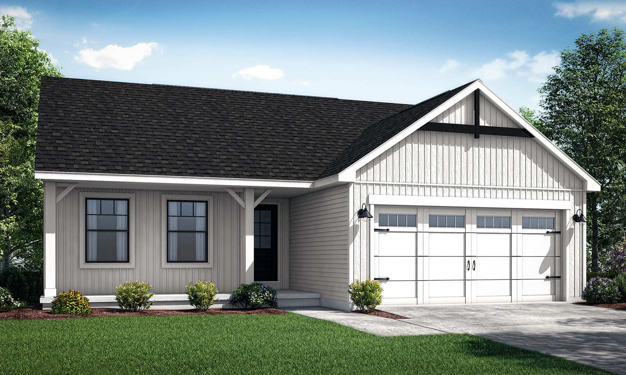 Exterior featured in the Bristol II By Wayne Homes in Mansfield, OH