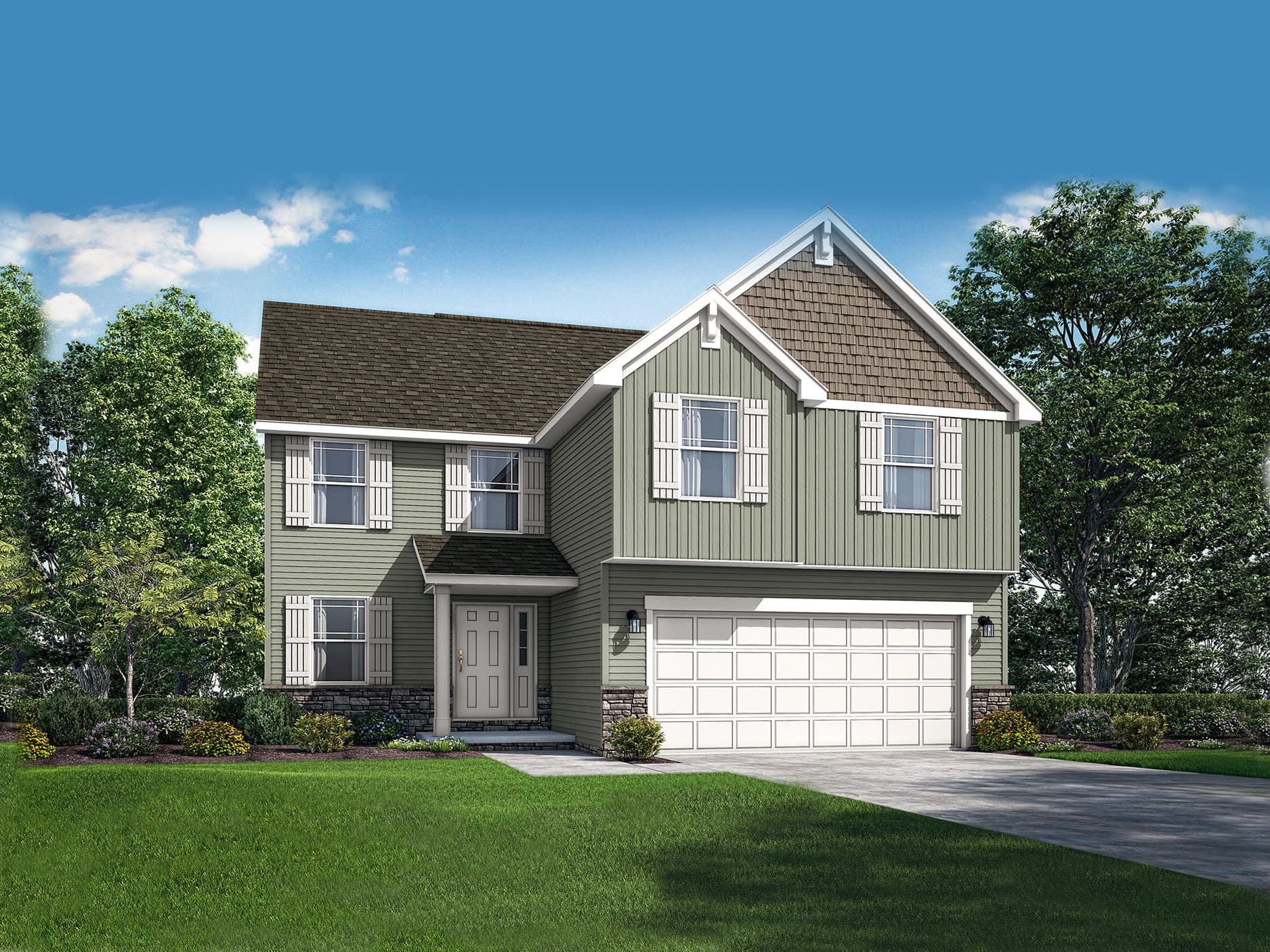 Exterior featured in the Essex II By Wayne Homes in Columbus, OH