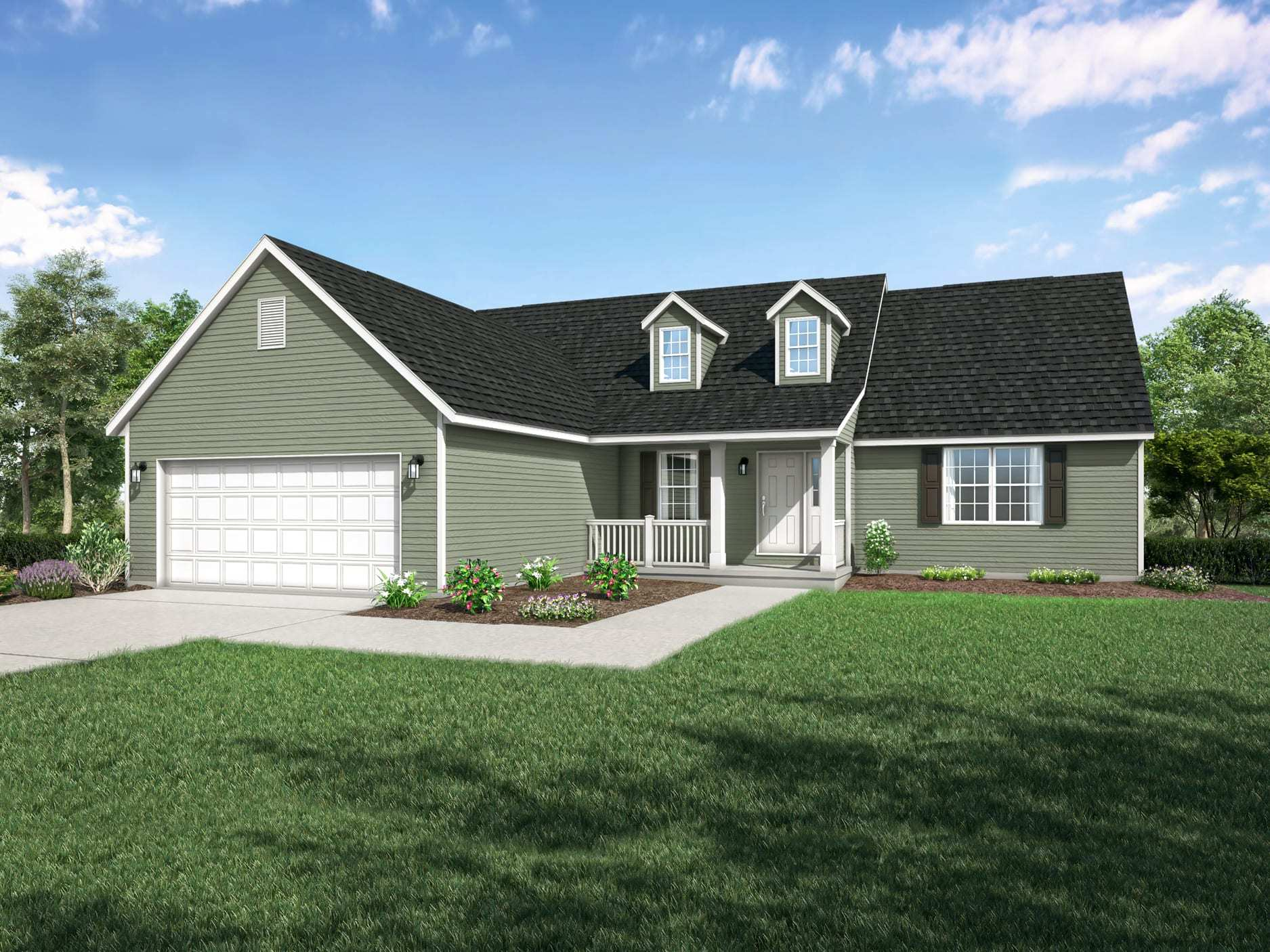 Exterior featured in the Camden II By Wayne Homes in Ann Arbor, MI