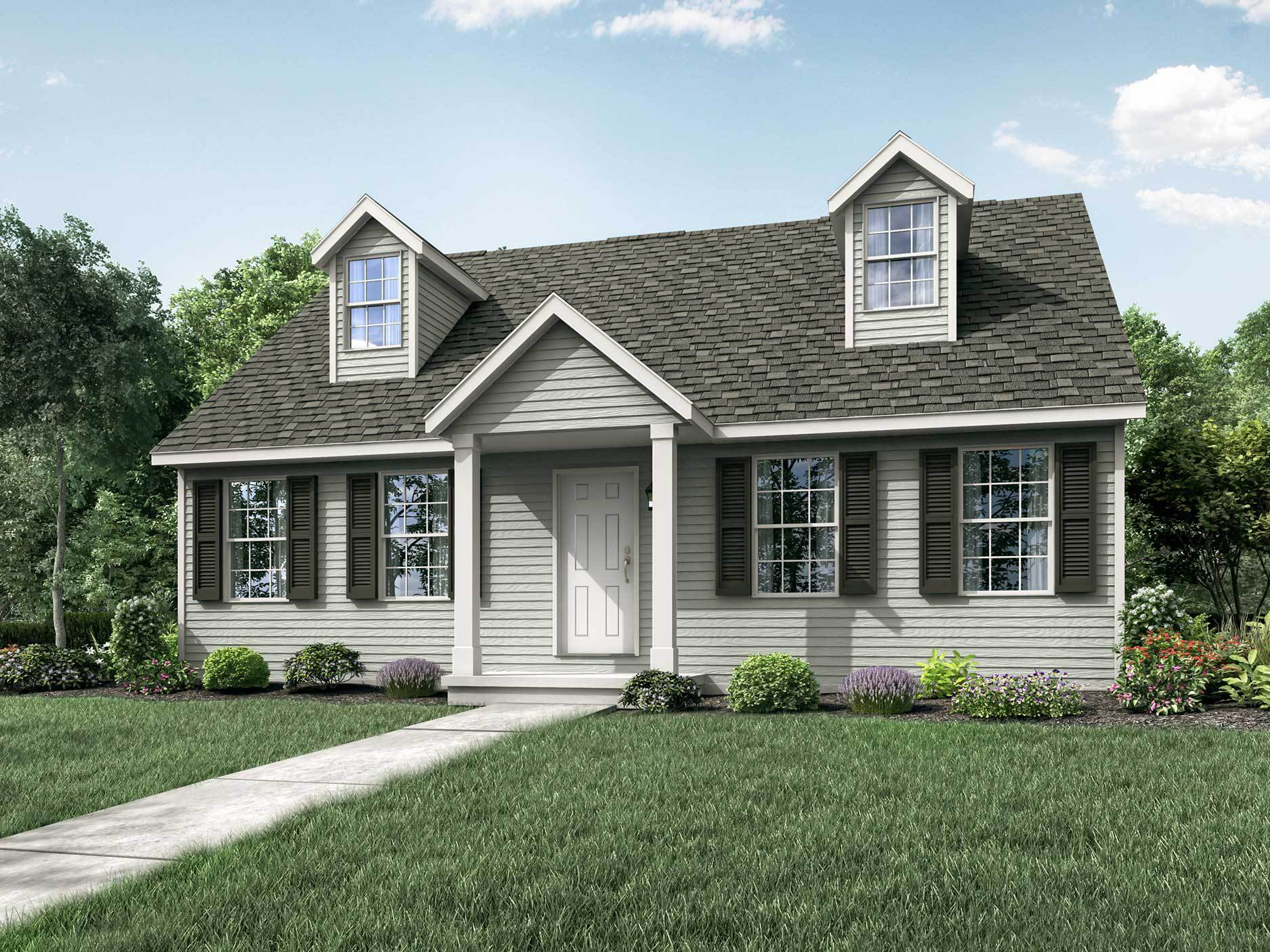 Exterior featured in the Somerville II By Wayne Homes in Akron, OH