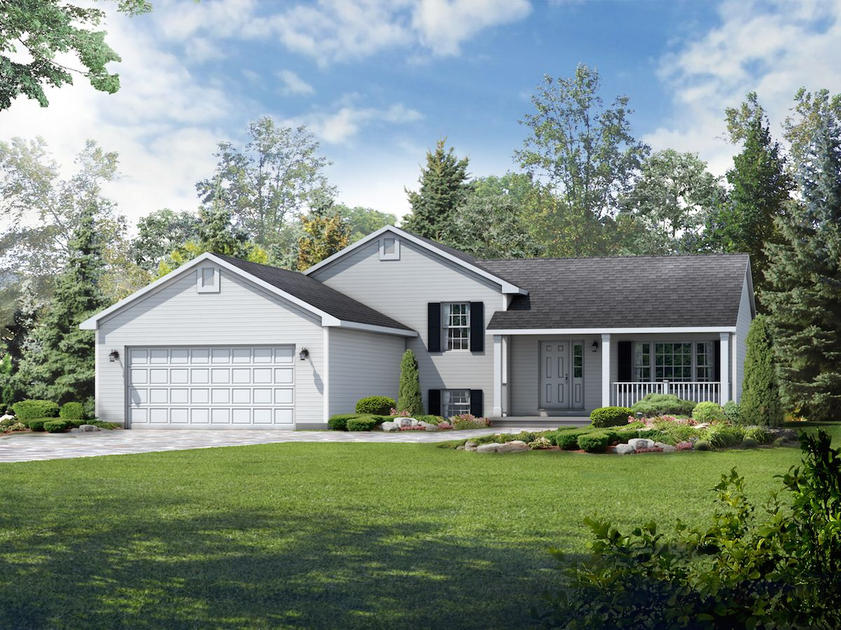 Exterior featured in the Princeton II By Wayne Homes in Mansfield, OH