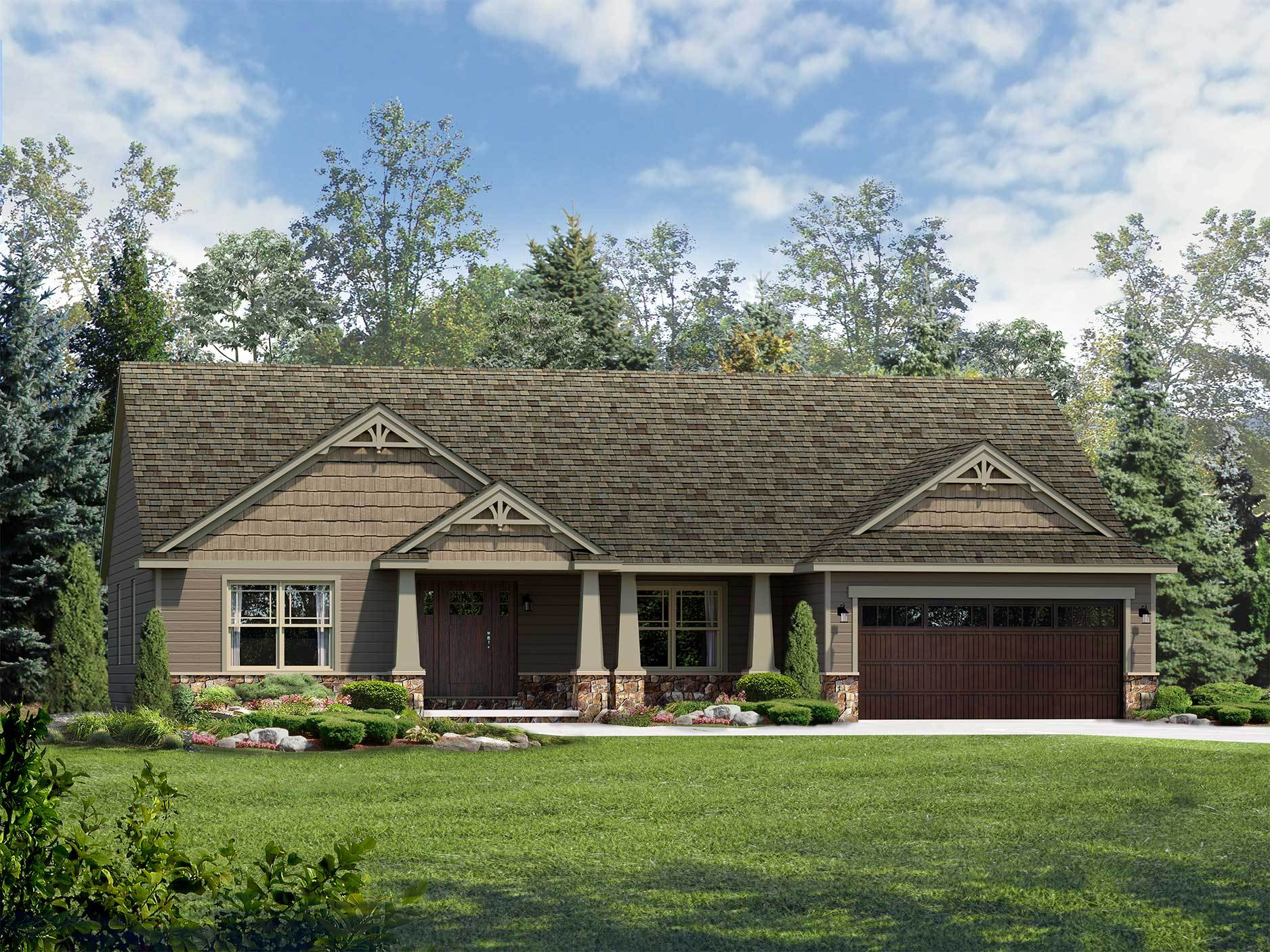 Exterior featured in the Dorchester II By Wayne Homes in Toledo, OH