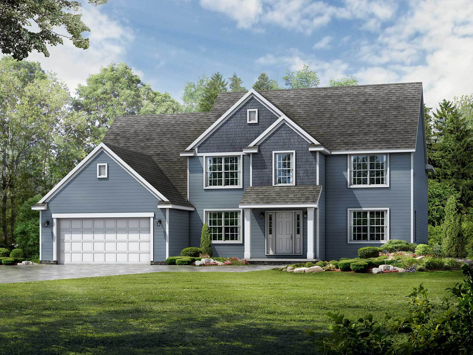 Exterior featured in the Meridian By Wayne Homes in Cleveland, OH