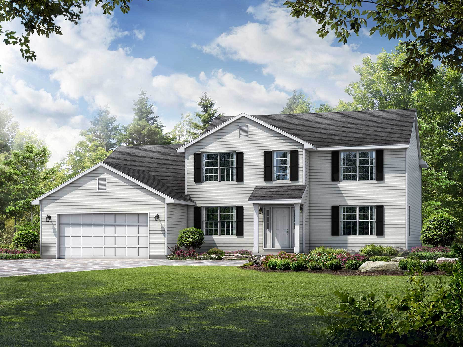 Exterior featured in the Meridian By Wayne Homes in Toledo, OH