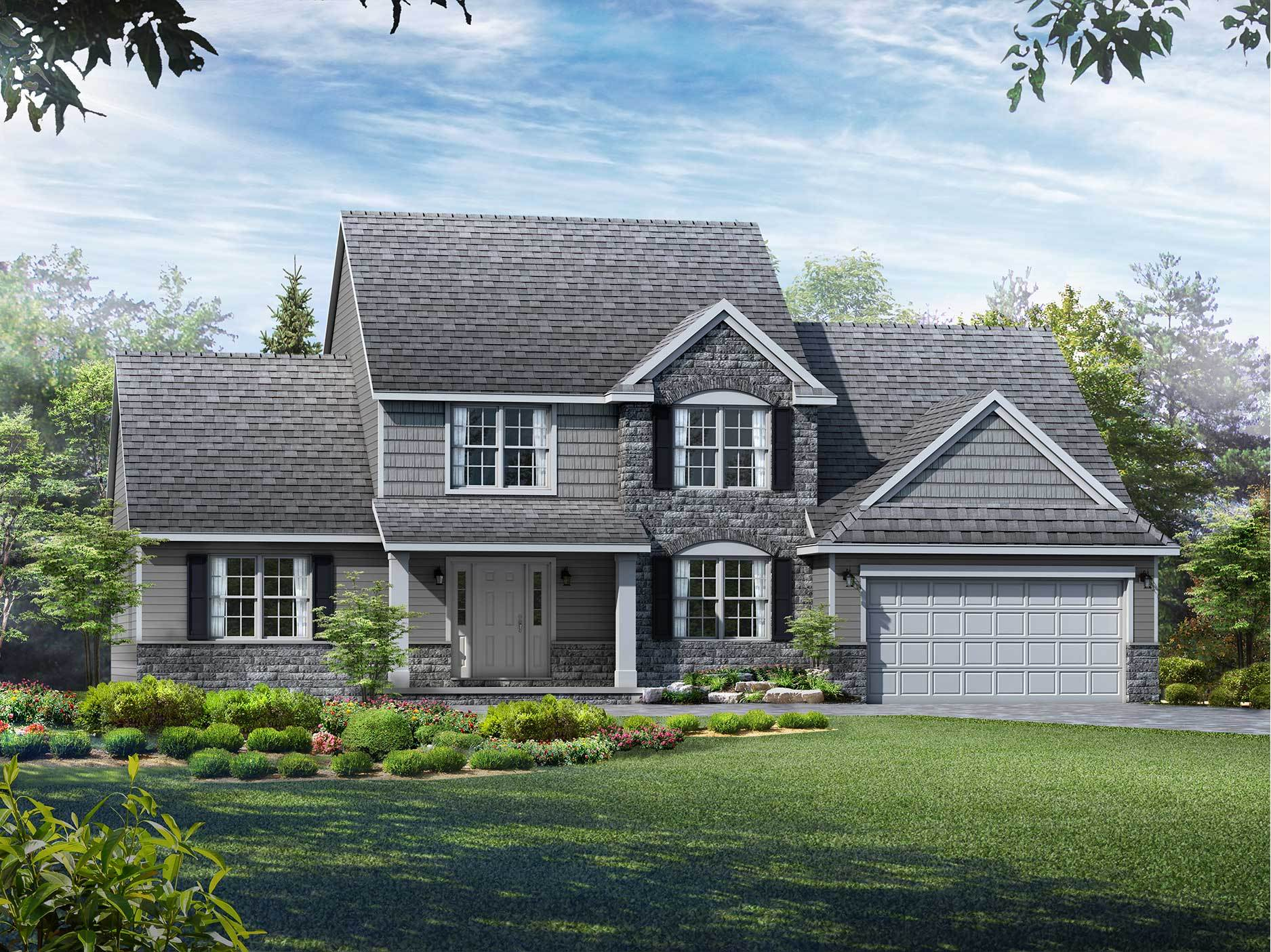 Exterior featured in the Brentwood By Wayne Homes in Akron, OH