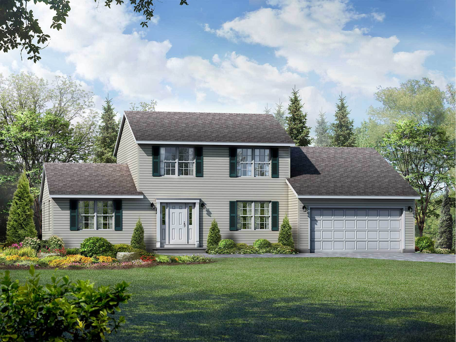 Exterior featured in the Brentwood By Wayne Homes in Ann Arbor, MI