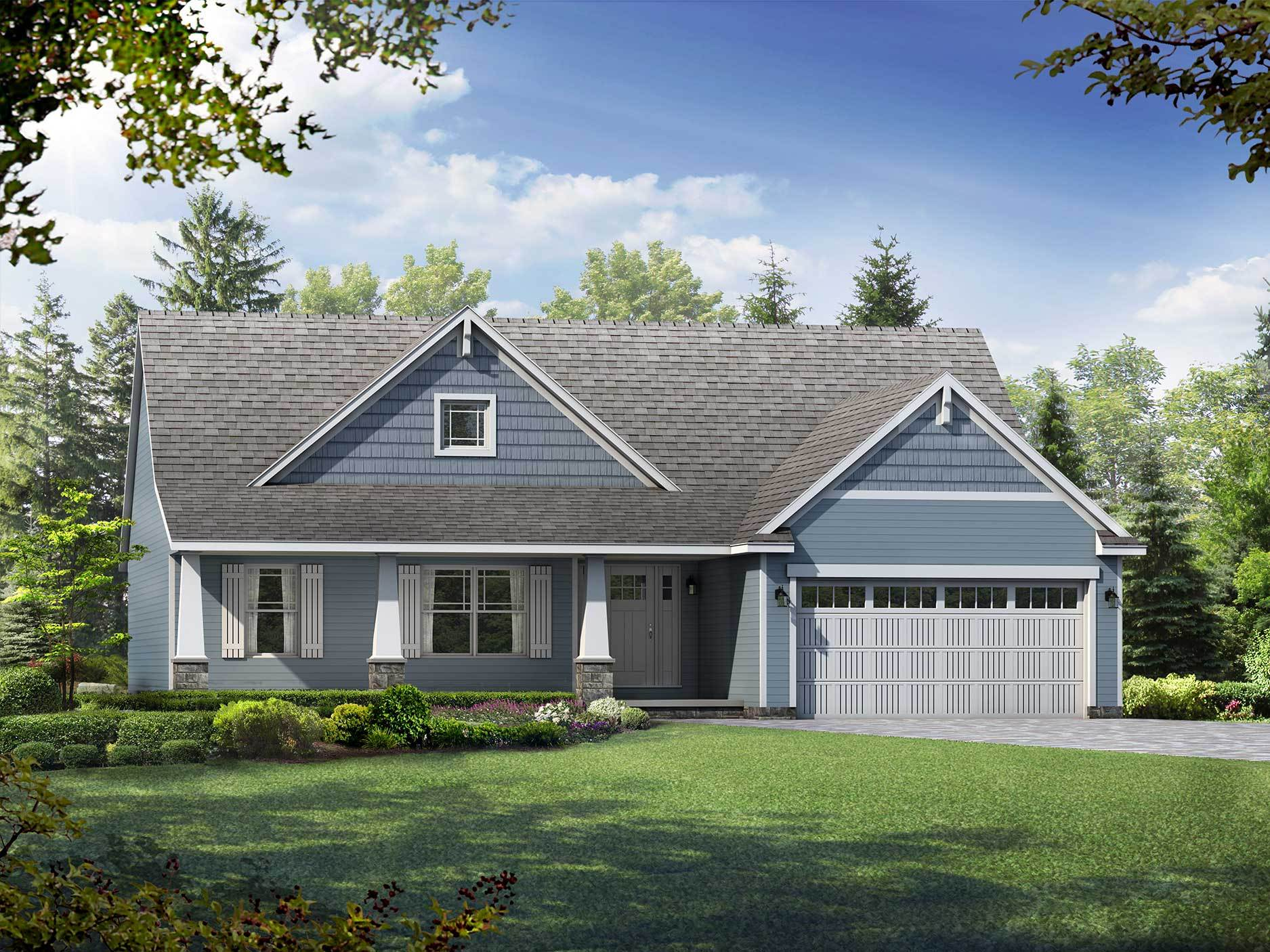 Exterior featured in the Brookline II By Wayne Homes in Akron, OH