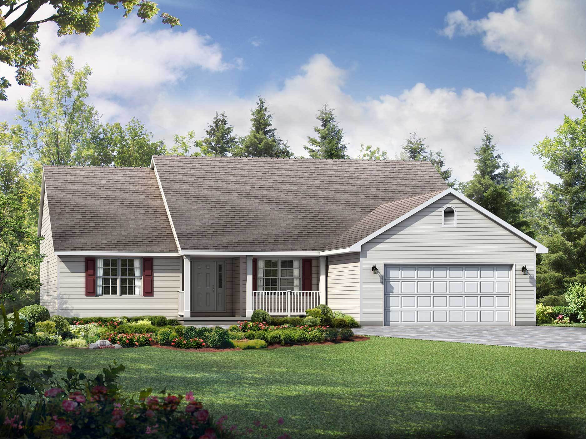 Exterior featured in the Westport By Wayne Homes in Columbus, OH