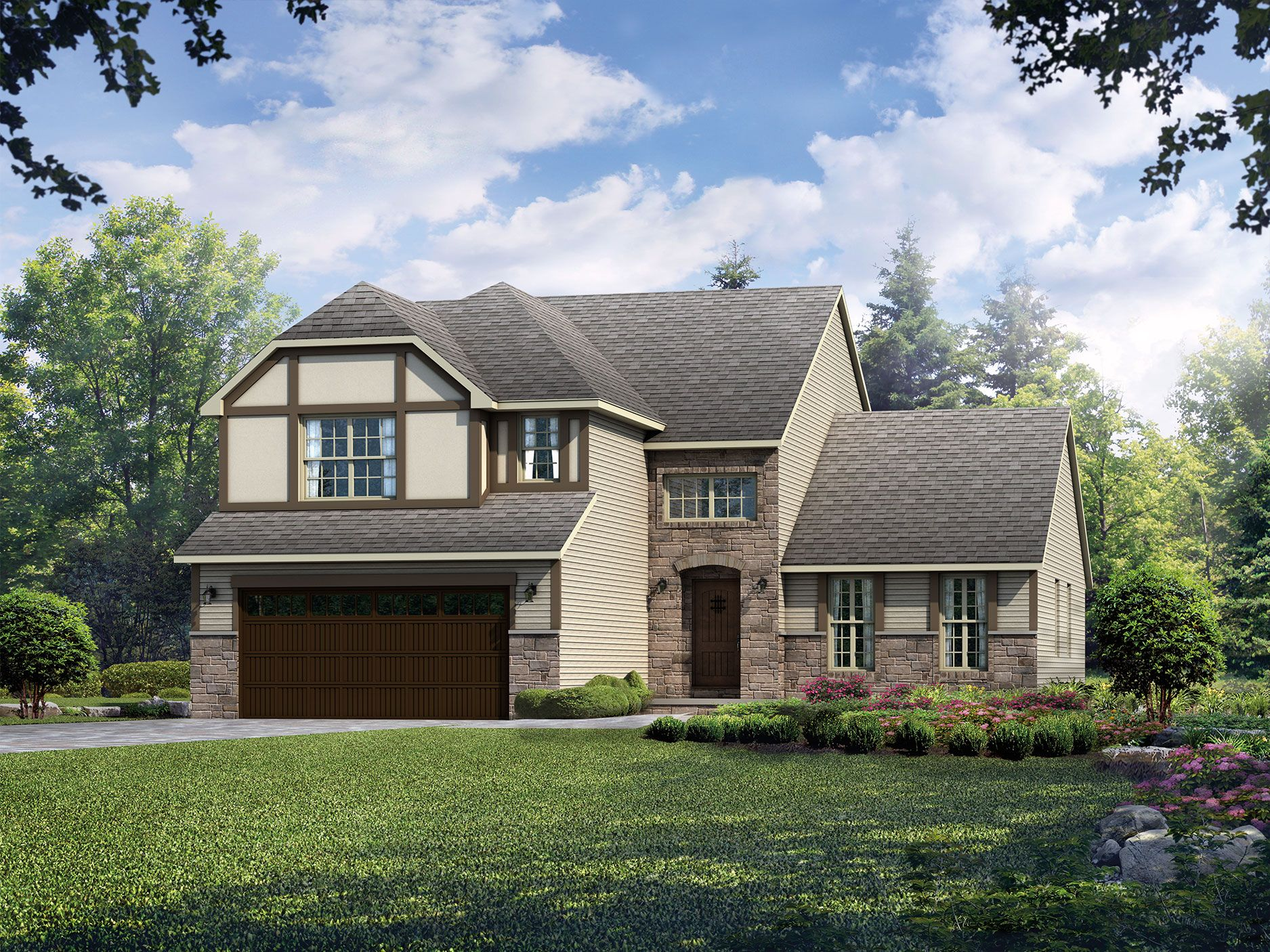 Exterior featured in the Vicksburg By Wayne Homes in Mansfield, OH