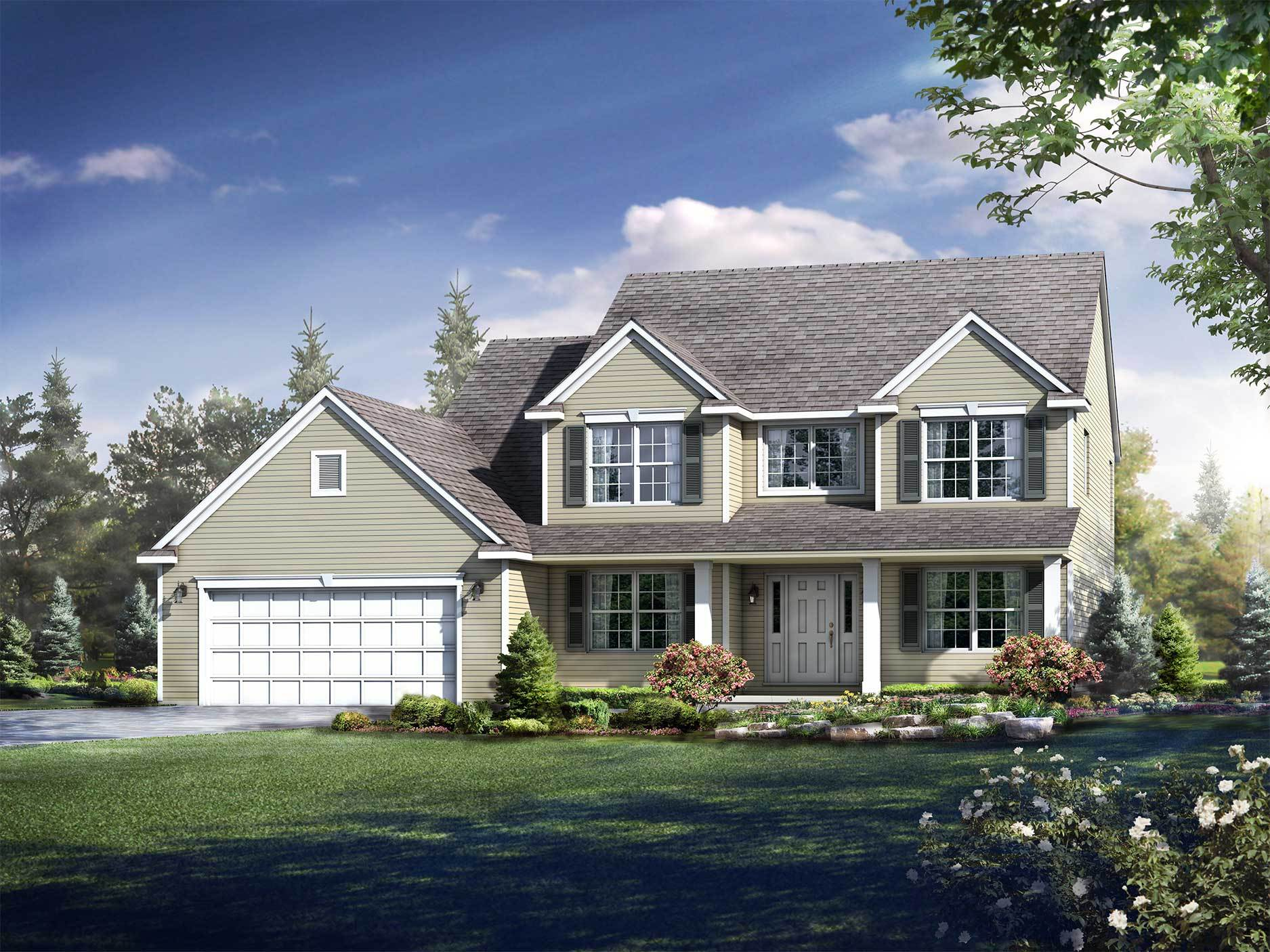 Exterior featured in the Kinston By Wayne Homes in Wheeling, OH