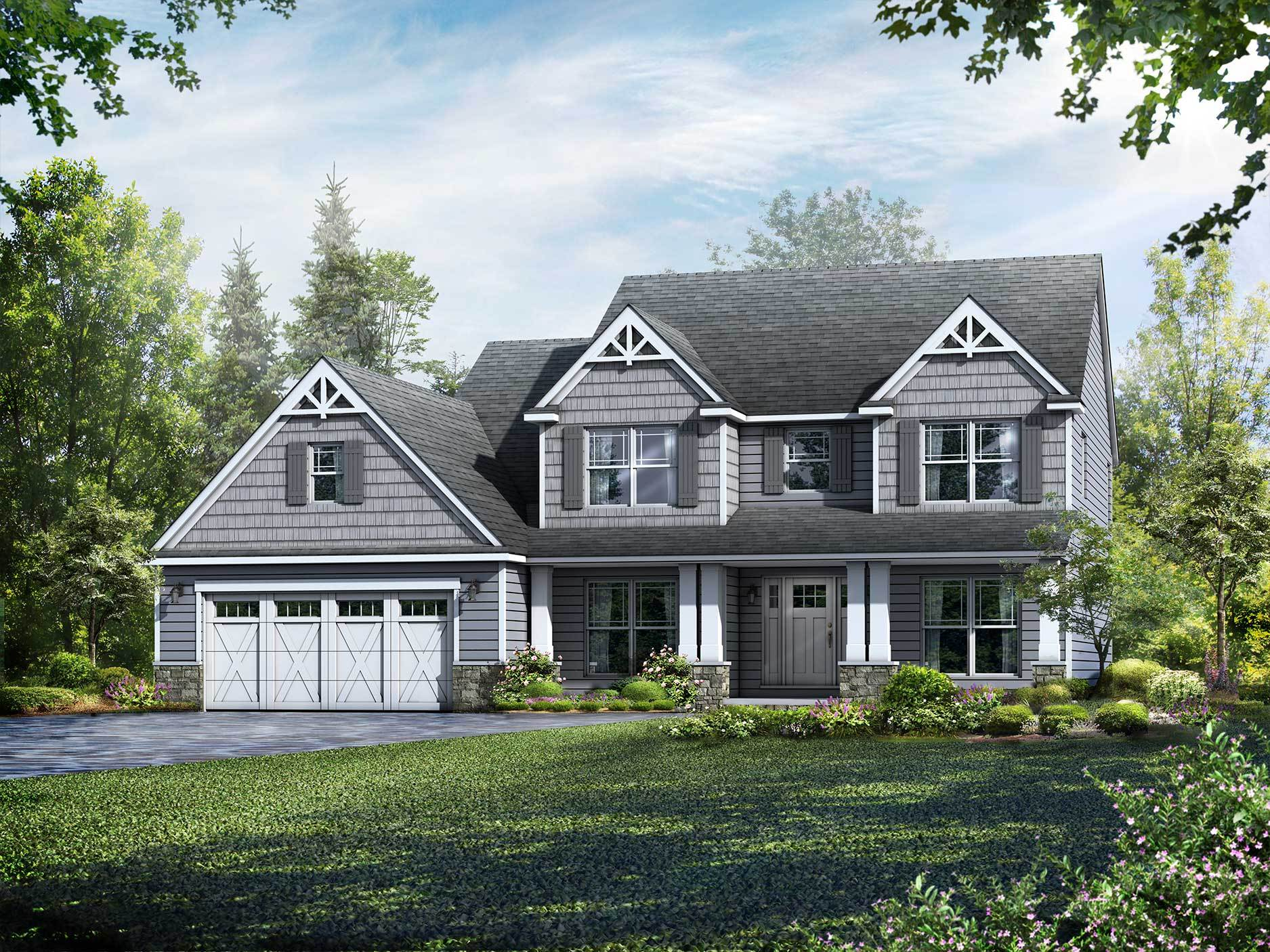 Exterior featured in the Kinston By Wayne Homes in Cleveland, OH