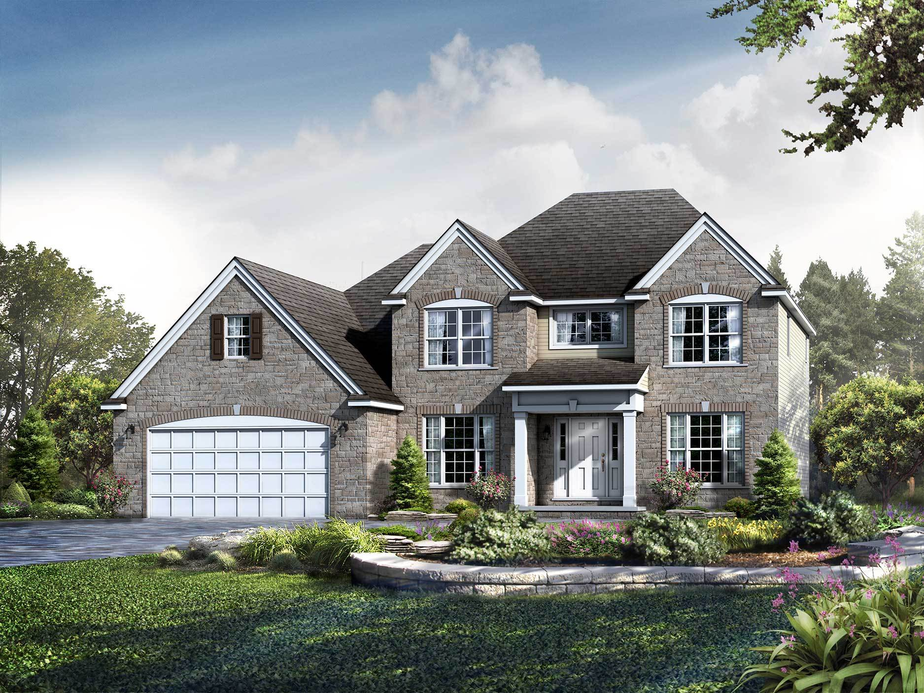 Exterior featured in the Kinston By Wayne Homes in Pittsburgh, PA