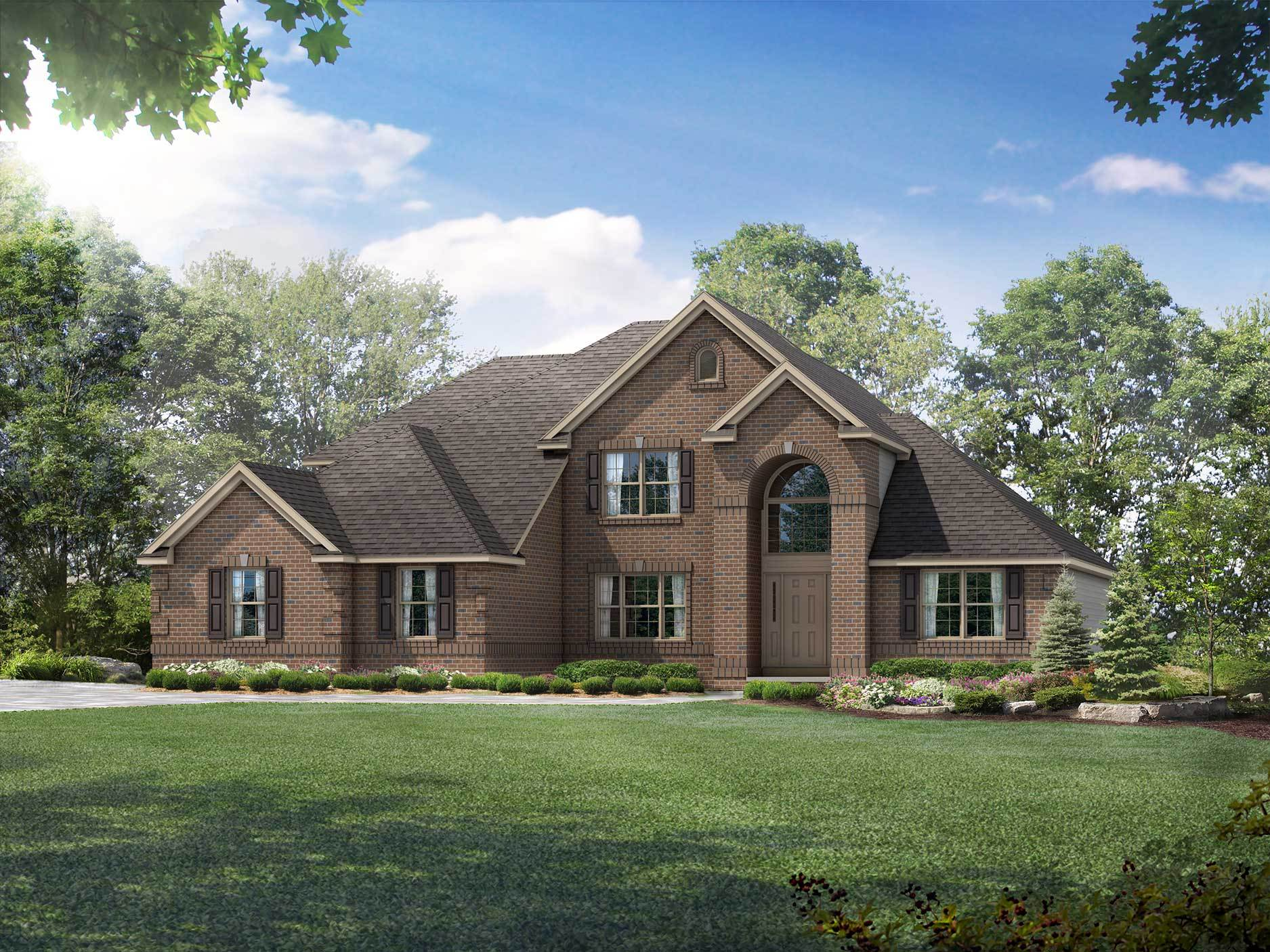 Exterior featured in the Covington By Wayne Homes in Mansfield, OH