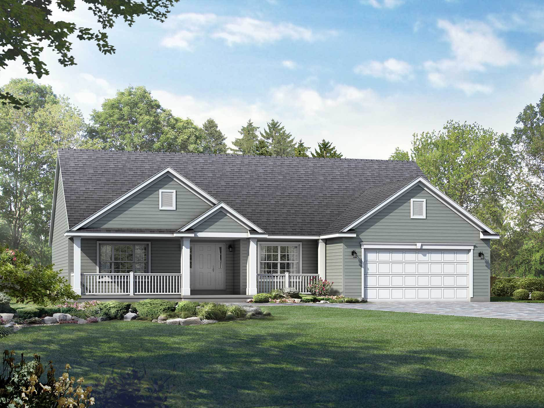 Exterior featured in the Yorktown By Wayne Homes in Wheeling, OH