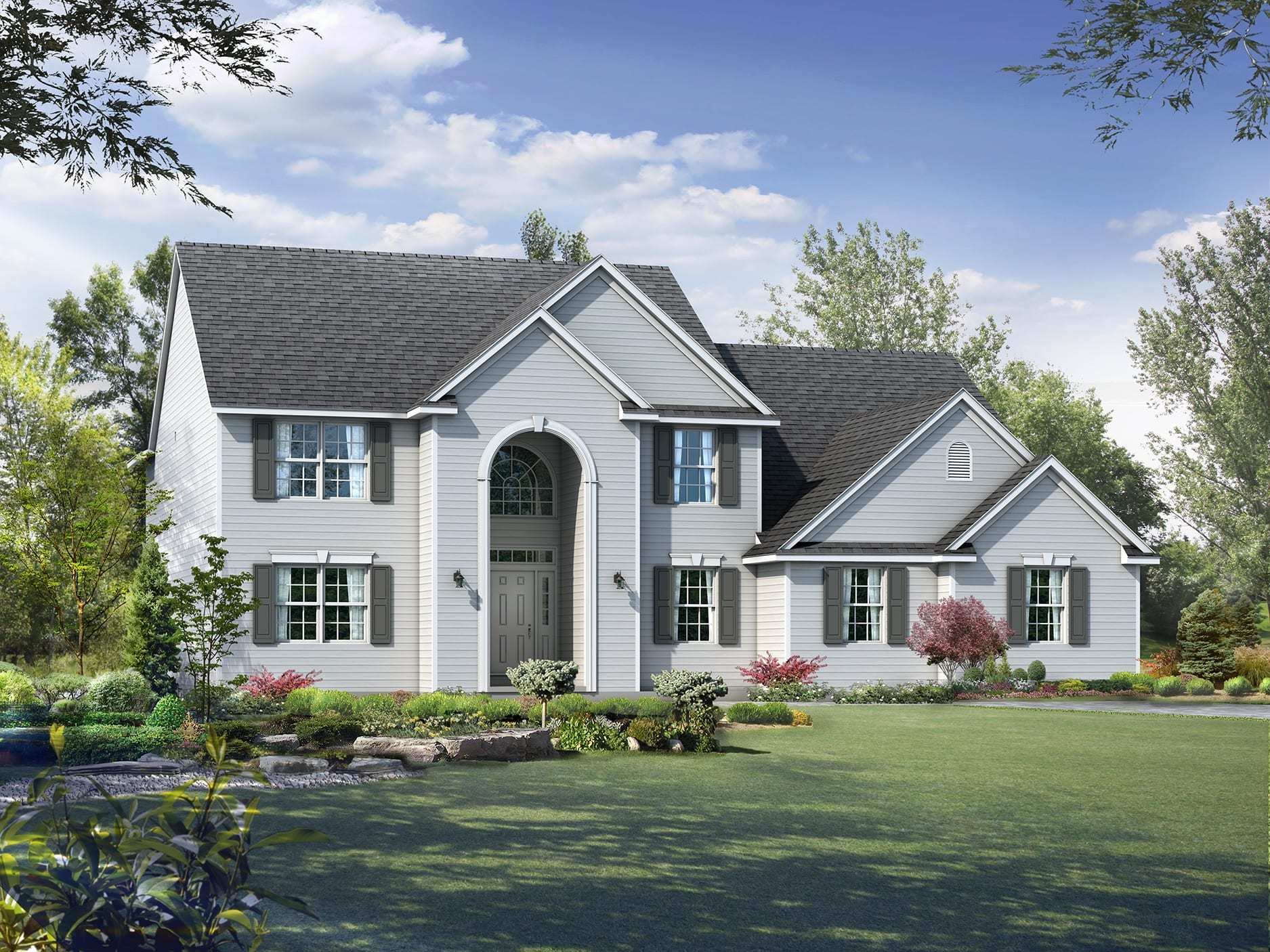 Exterior featured in the Winchester By Wayne Homes in Wheeling, OH