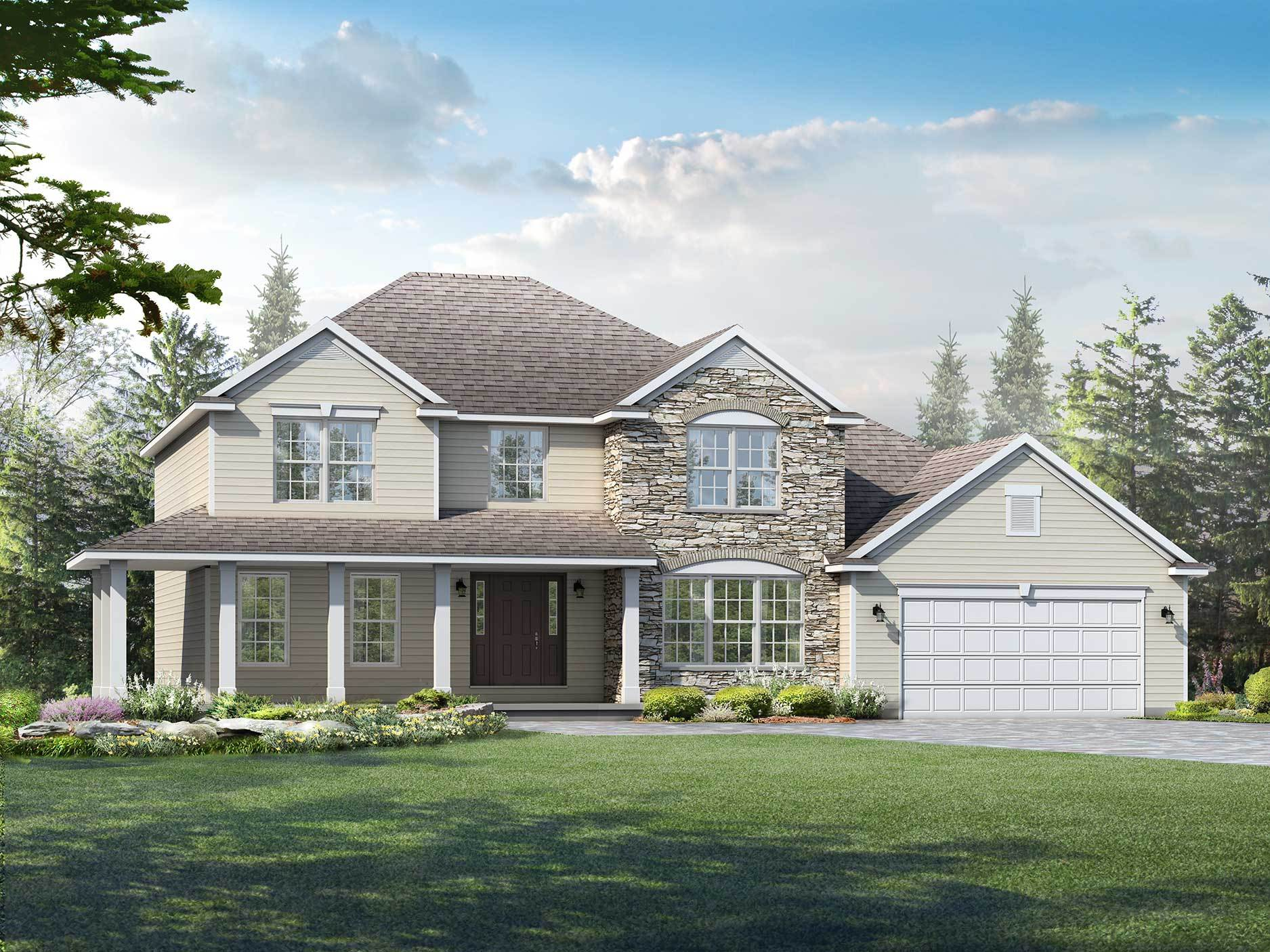 Exterior featured in the Wilmington By Wayne Homes in Toledo, OH