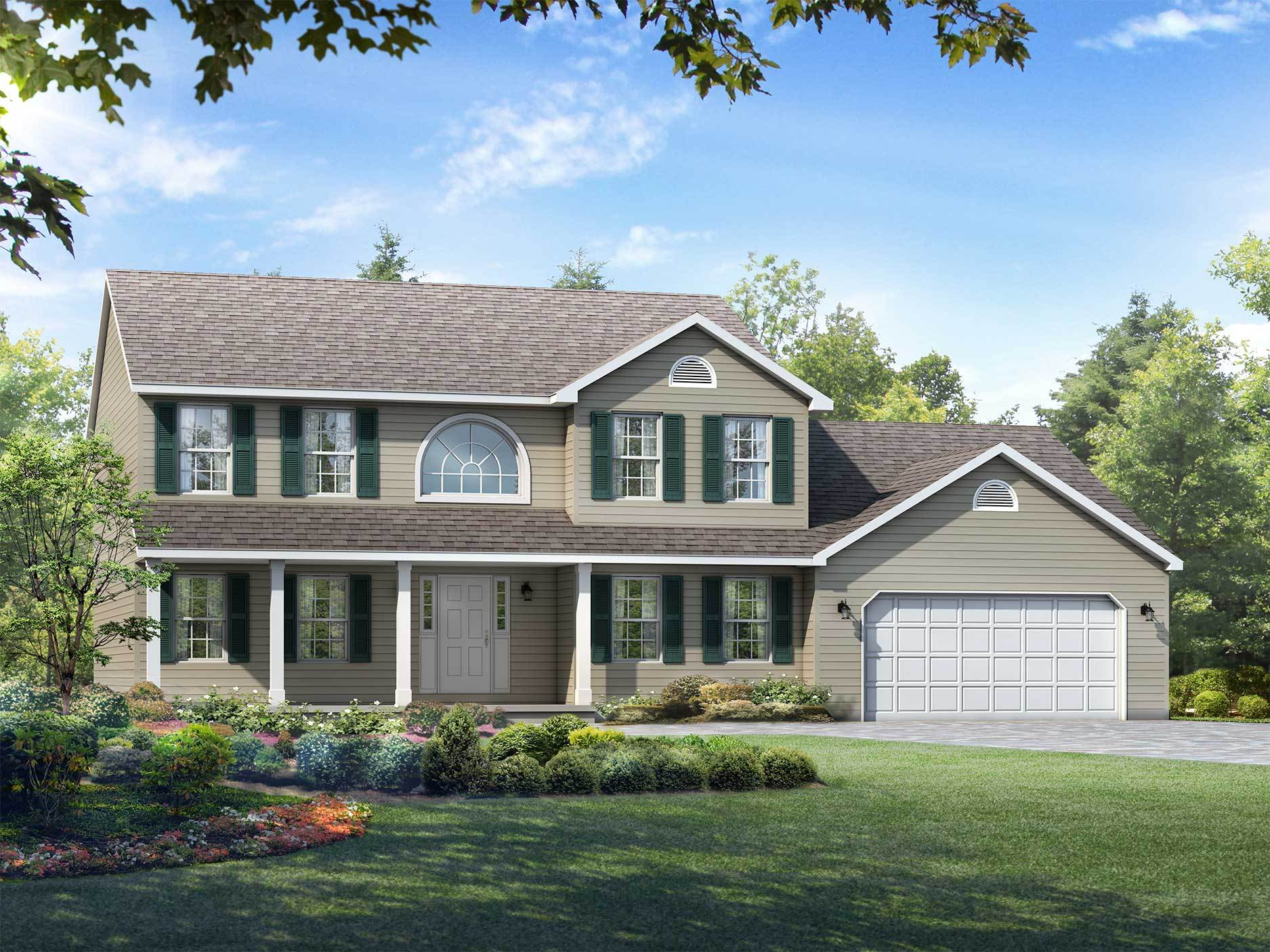 Exterior featured in the Wilmington By Wayne Homes in Akron, OH