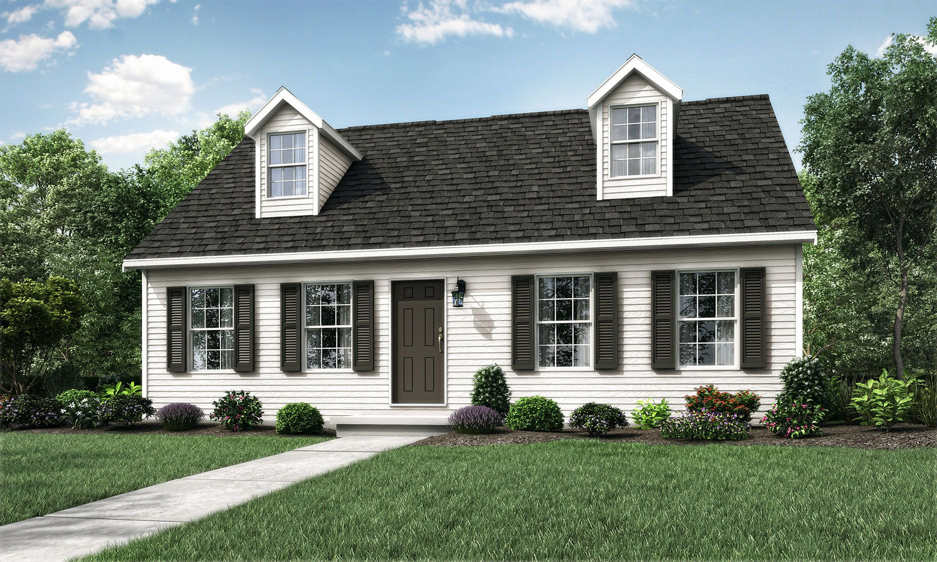 Exterior featured in the Somerville By Wayne Homes in Cleveland, OH