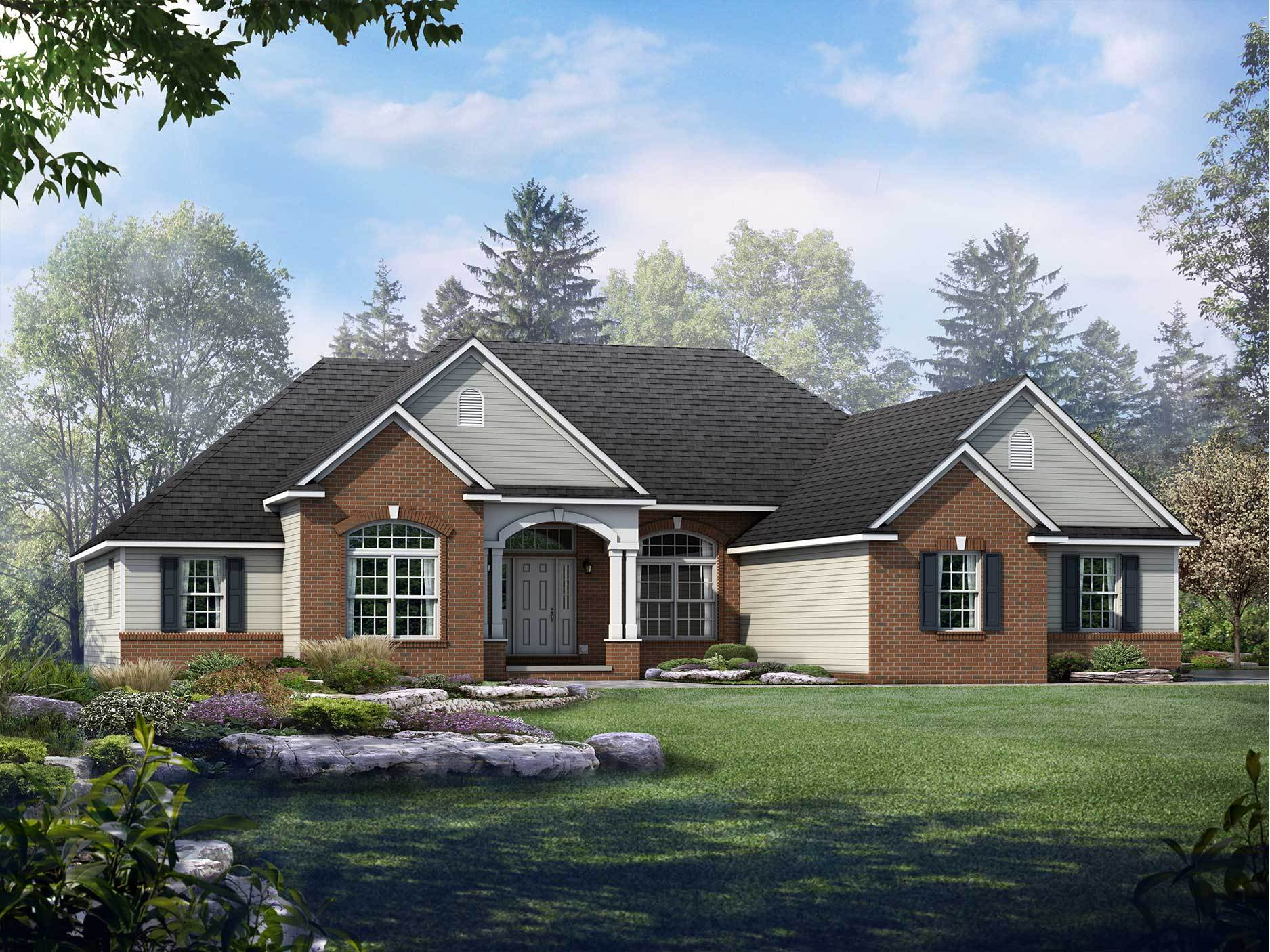 Exterior featured in the Litchfield By Wayne Homes in Toledo, OH