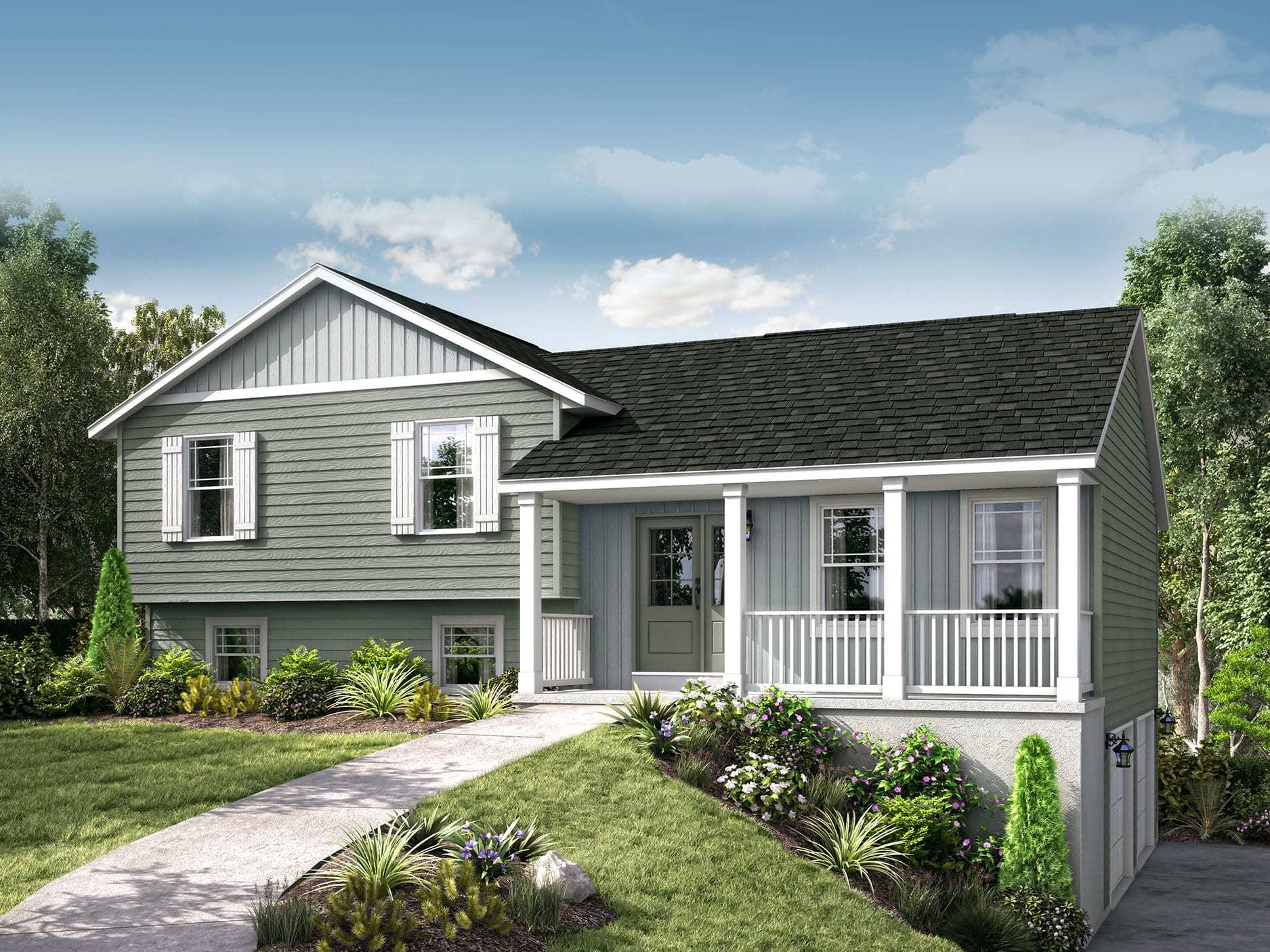 Exterior featured in the Lexington II By Wayne Homes in Cleveland, OH