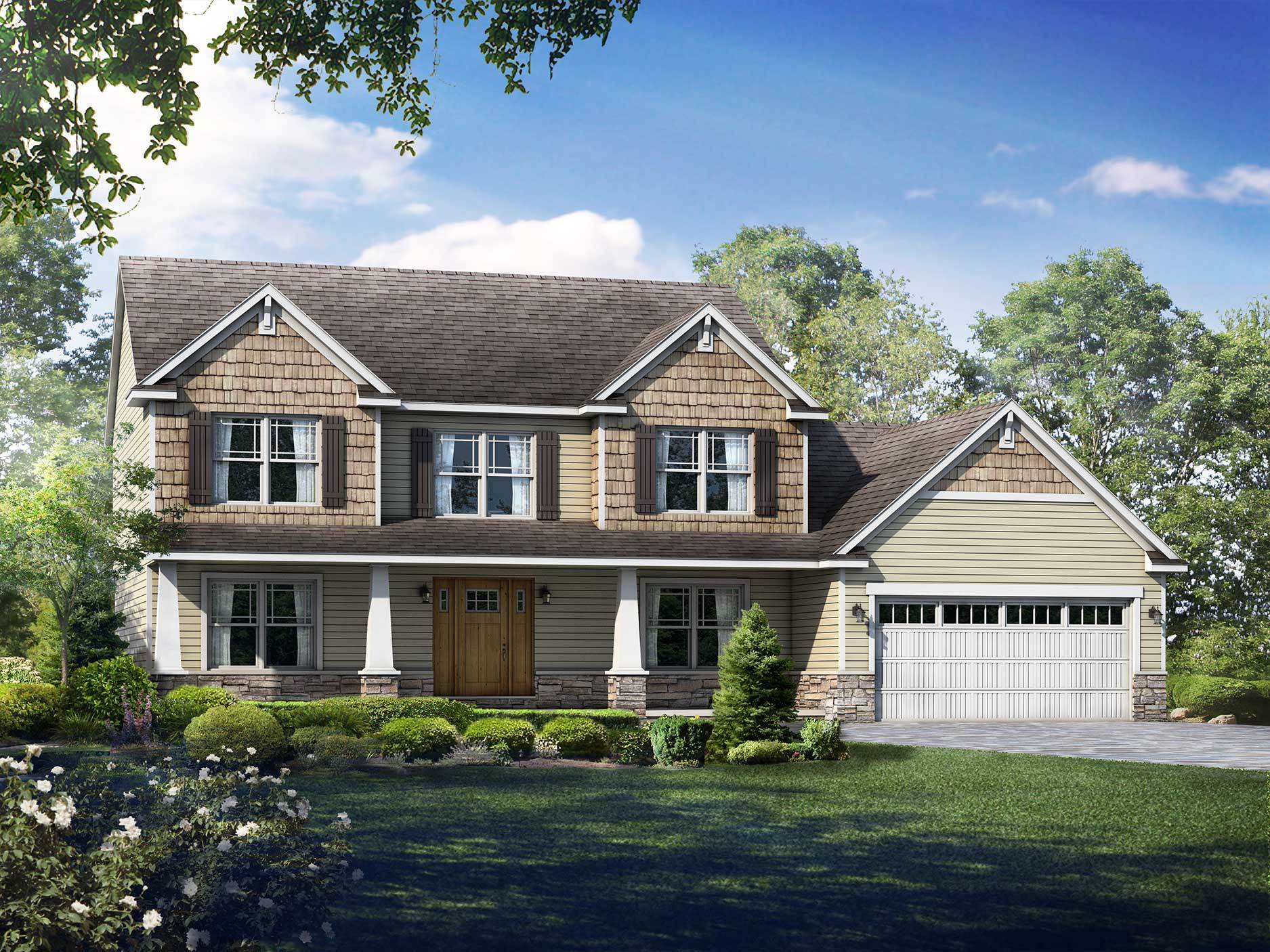 Exterior featured in the Hartford II By Wayne Homes in Akron, OH