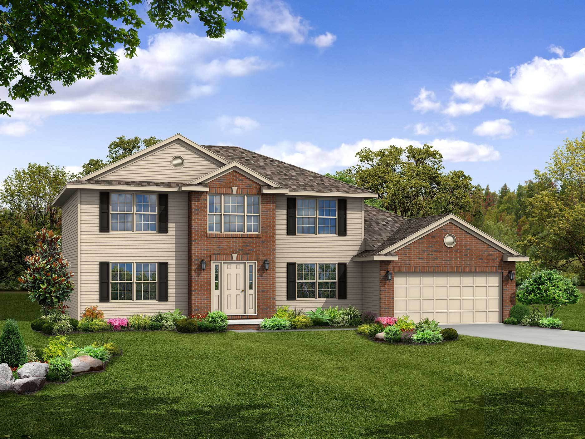 Exterior featured in the Hartford II By Wayne Homes in Cleveland, OH