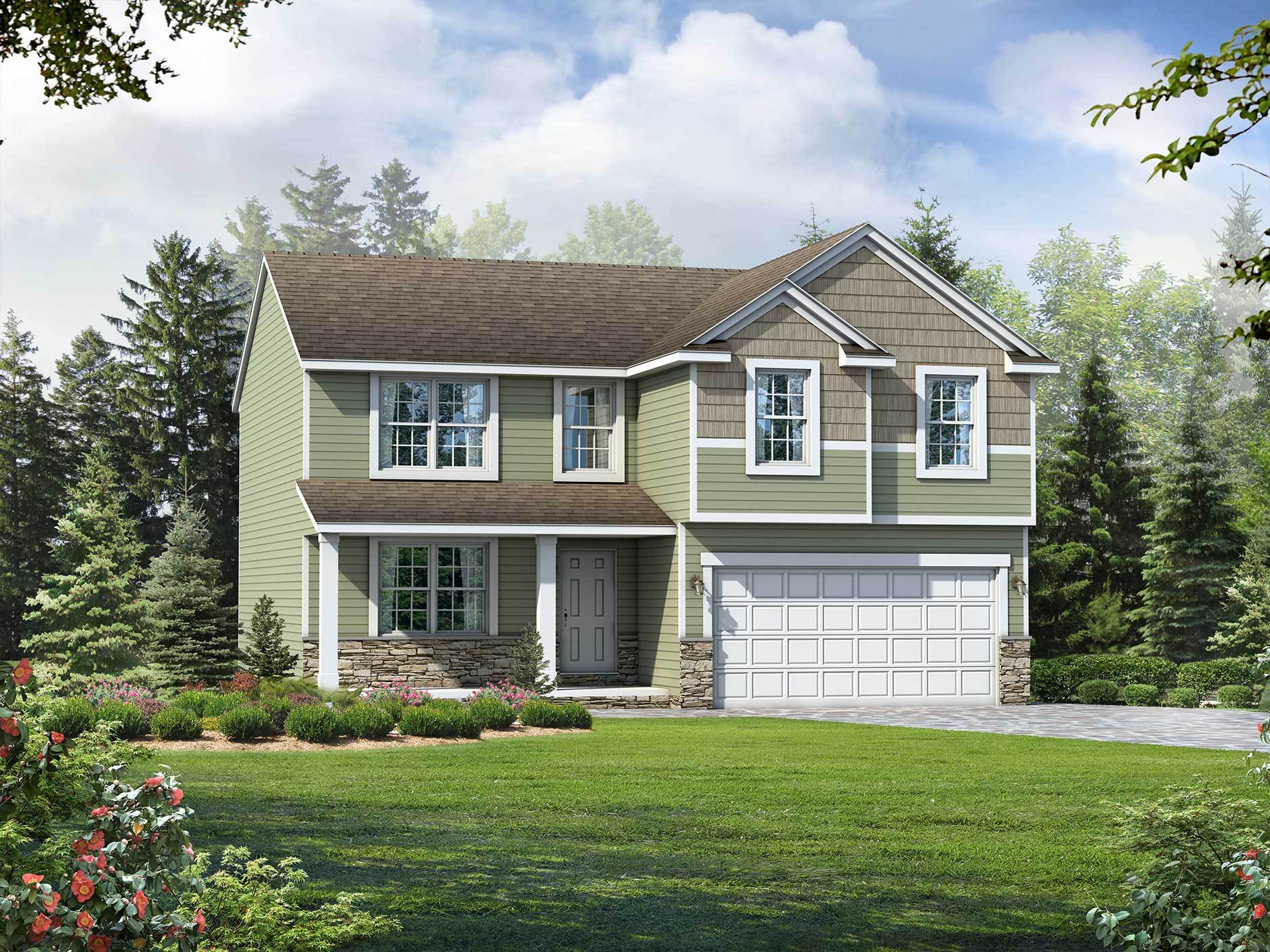 Exterior featured in the Hampton By Wayne Homes in Wheeling, OH