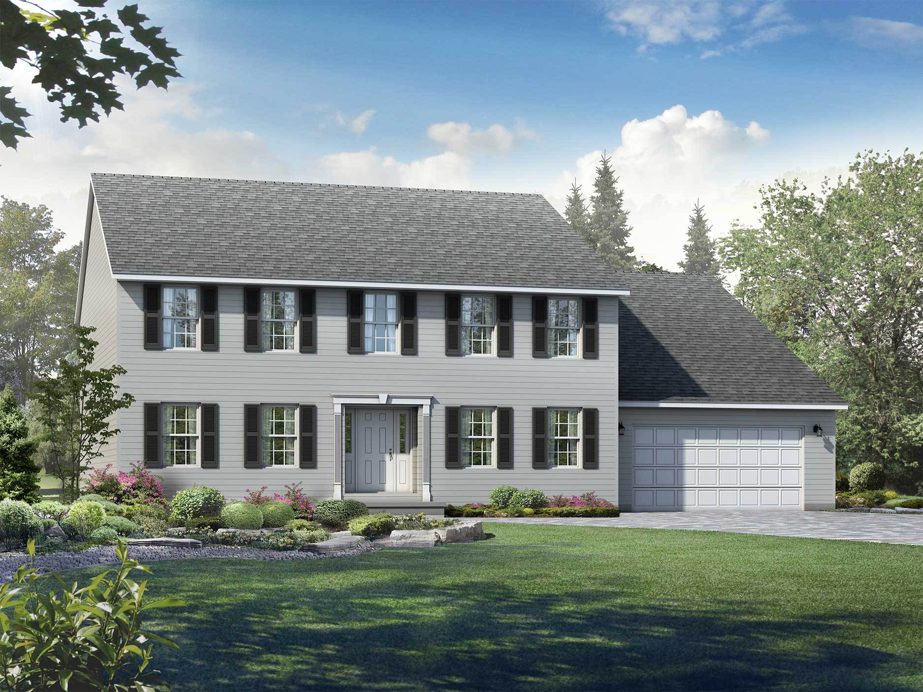 Exterior featured in the Fairfax By Wayne Homes in Pittsburgh, PA