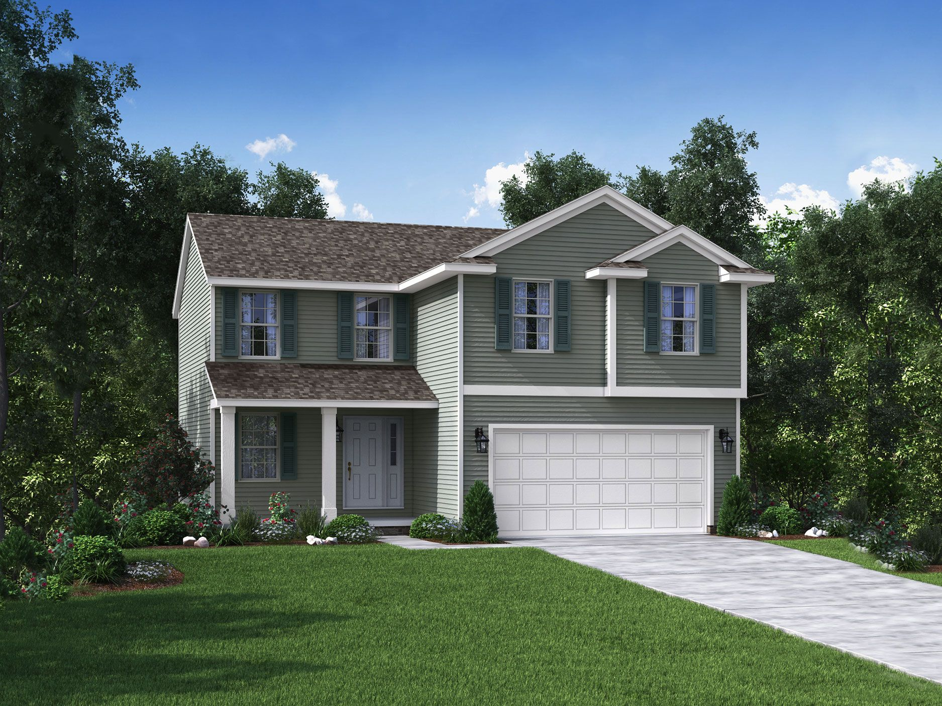 Exterior featured in the Essex By Wayne Homes in Toledo, OH