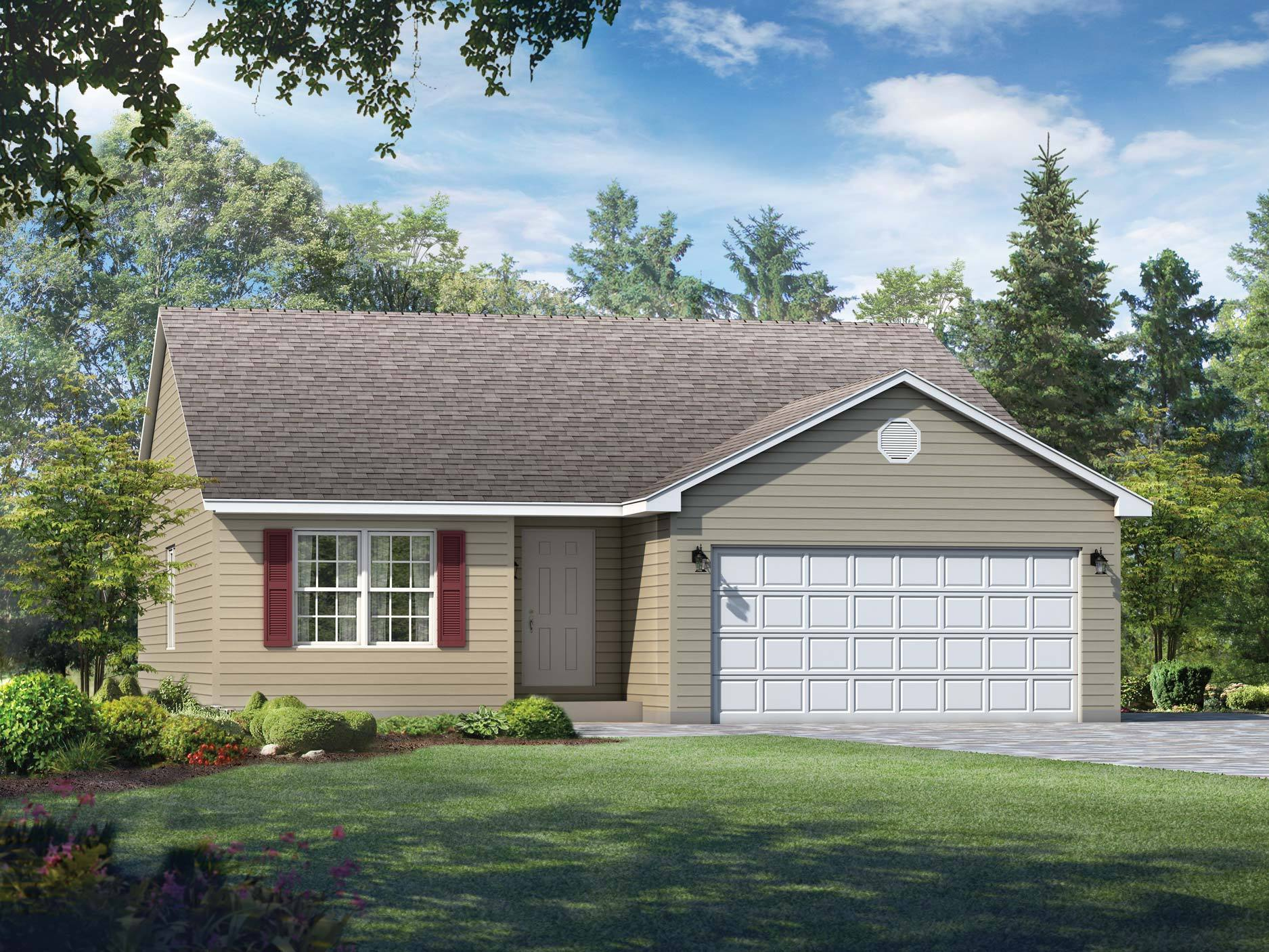 Exterior featured in the Bradford By Wayne Homes in Akron, OH