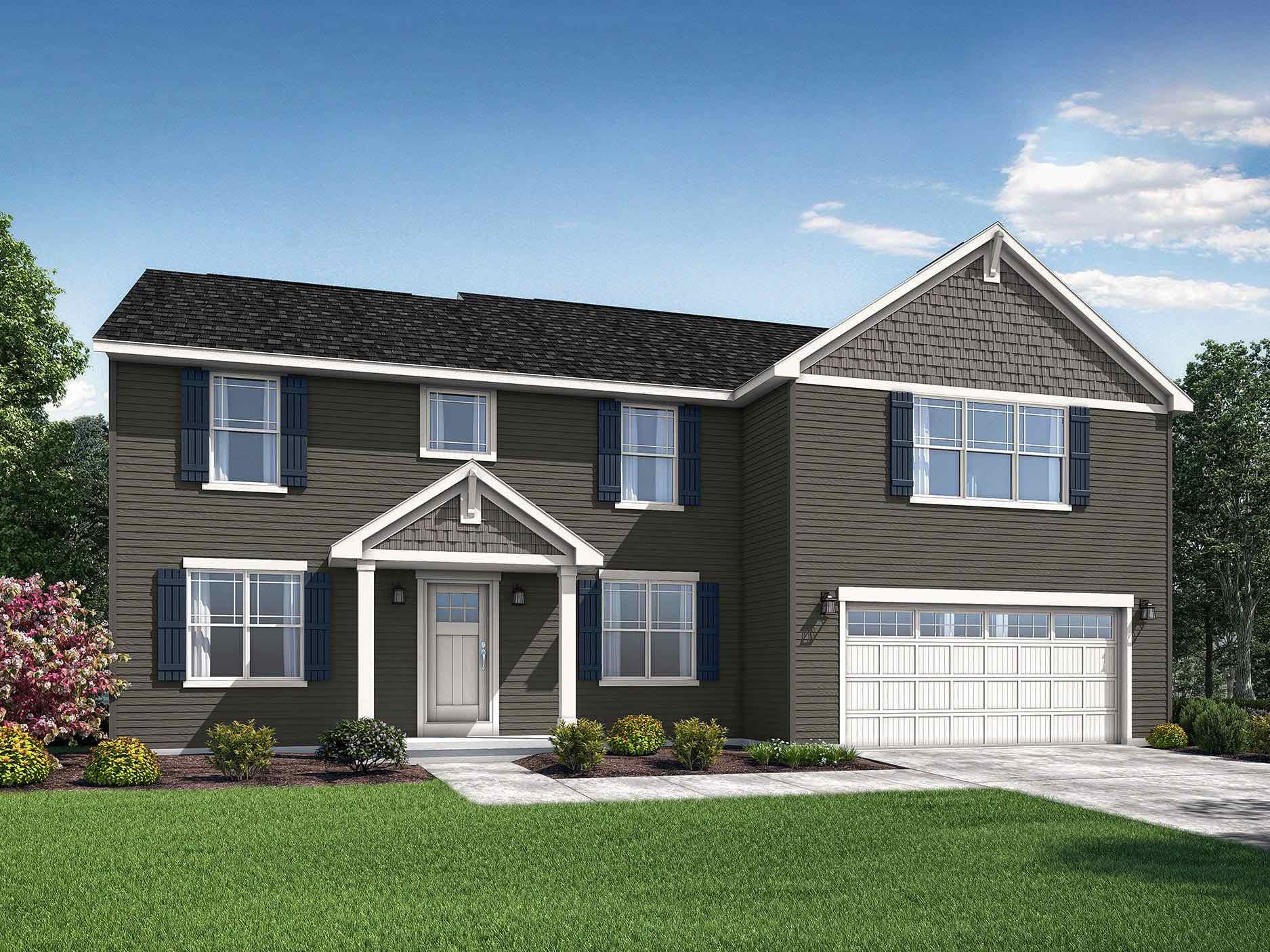 Exterior featured in the Anderson By Wayne Homes in Akron, OH