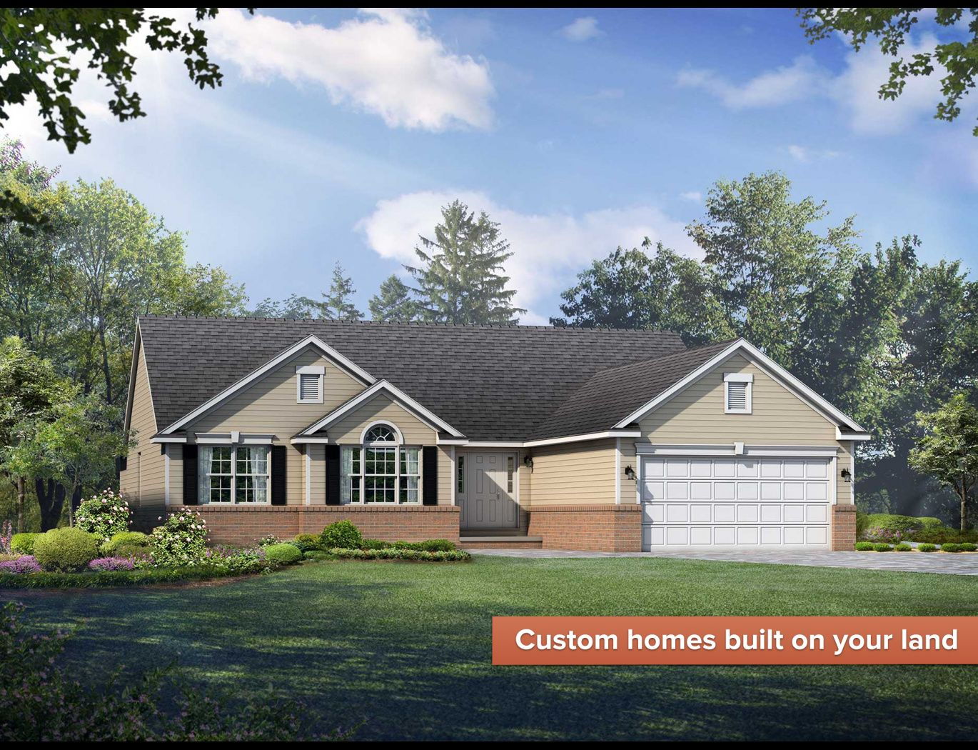 Exterior featured in the Stafford By Wayne Homes in Mansfield, OH
