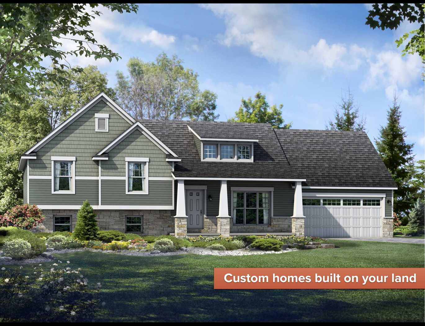 Exterior featured in the Lexington By Wayne Homes in Pittsburgh, PA