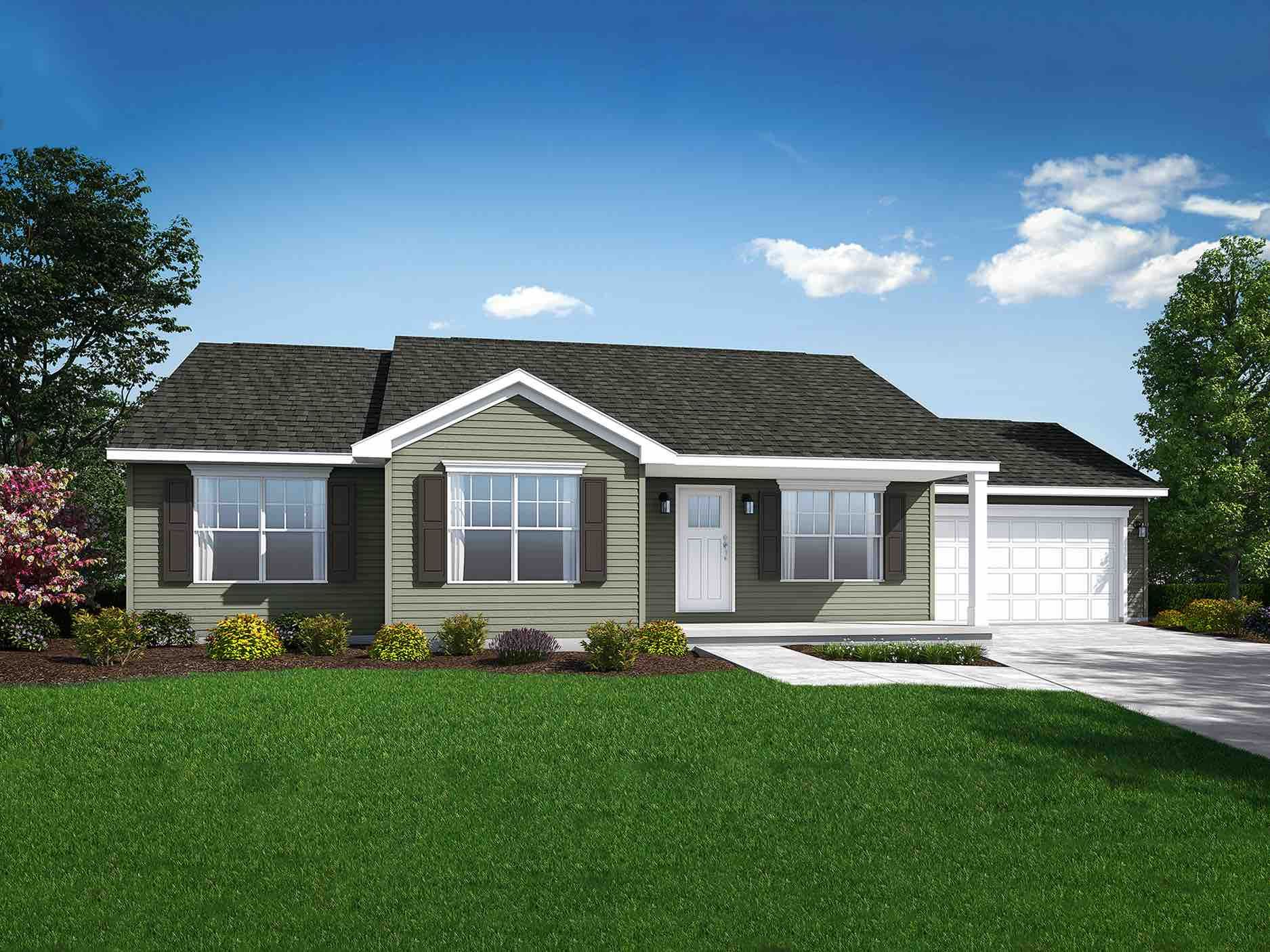 Exterior featured in the Albany By Wayne Homes in Akron, OH