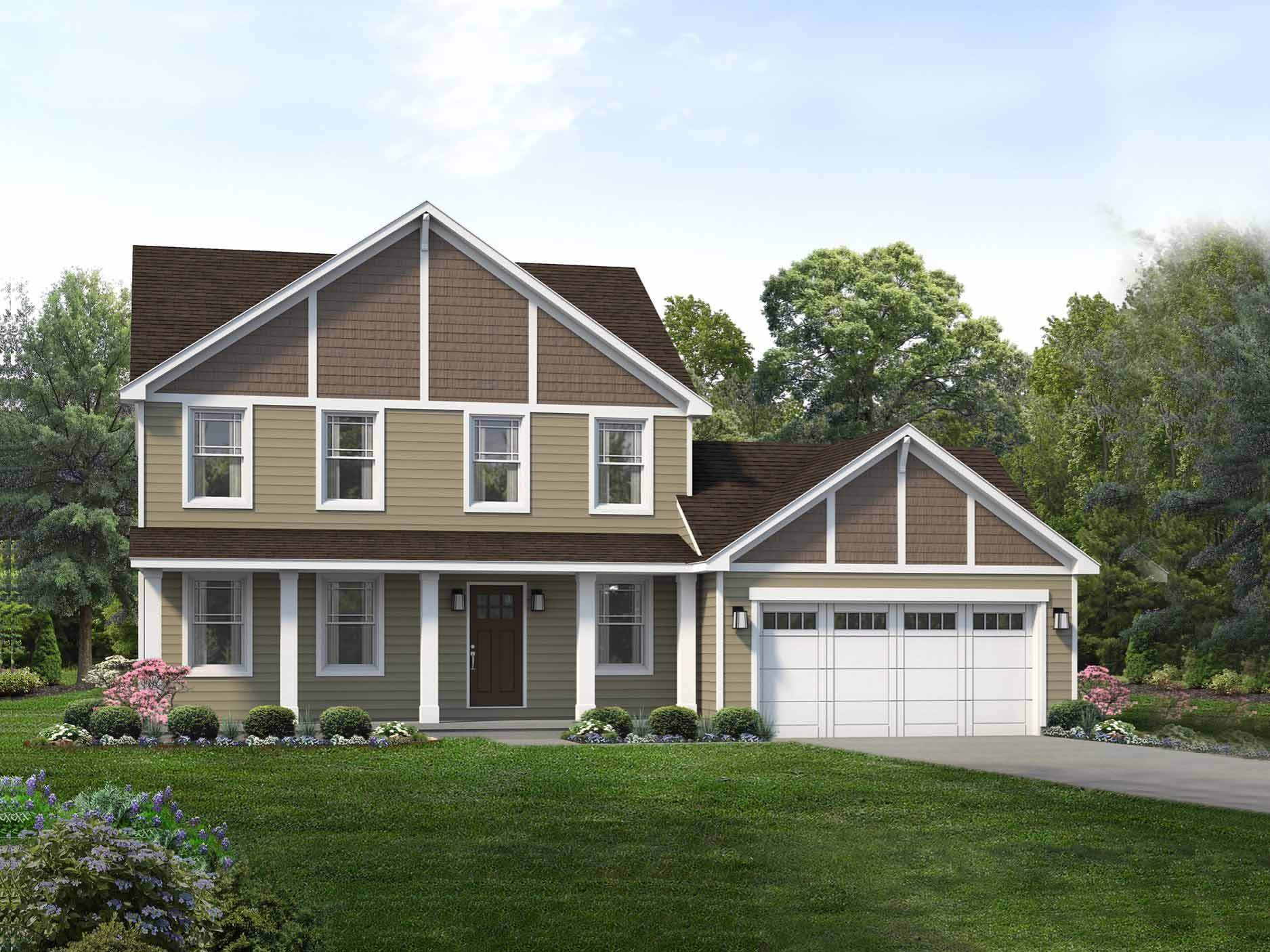 Exterior featured in the Savannah By Wayne Homes in Akron, OH